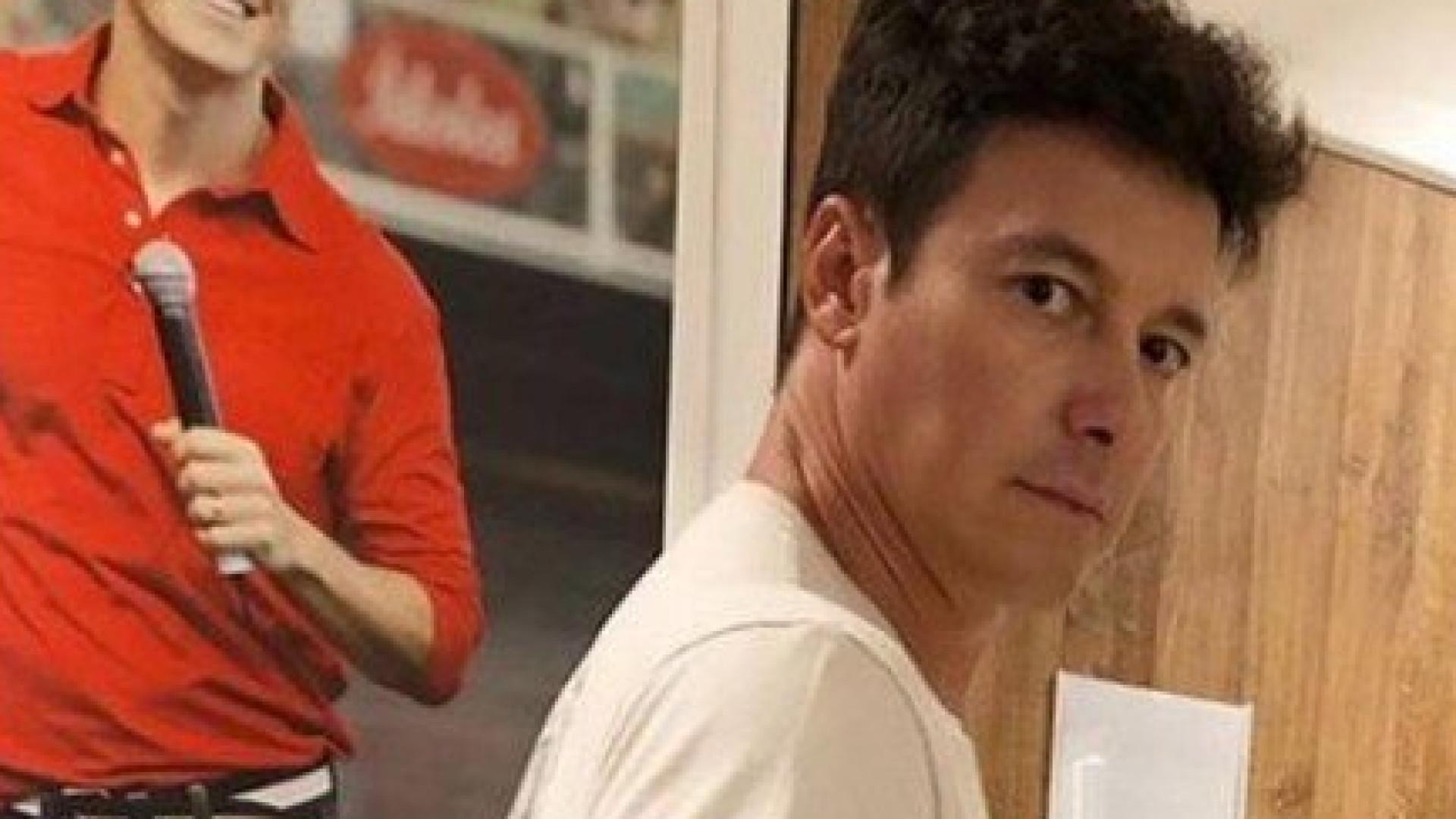 Rodrigo Faro posa com enchimento no bumbum: 'Personal trainer'