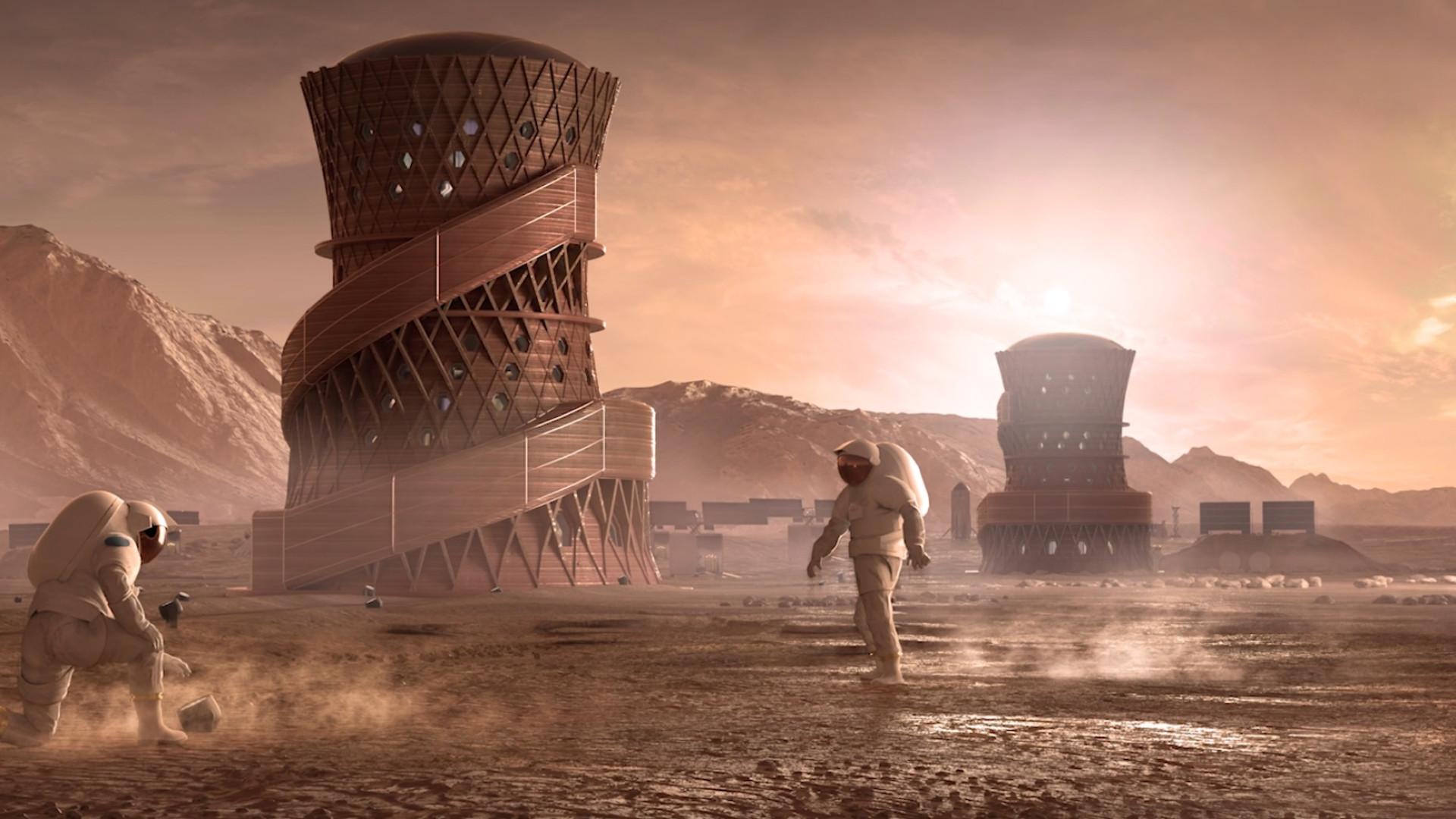 Nasa revela os três finalistas de concurso para desenhar casa em Marte