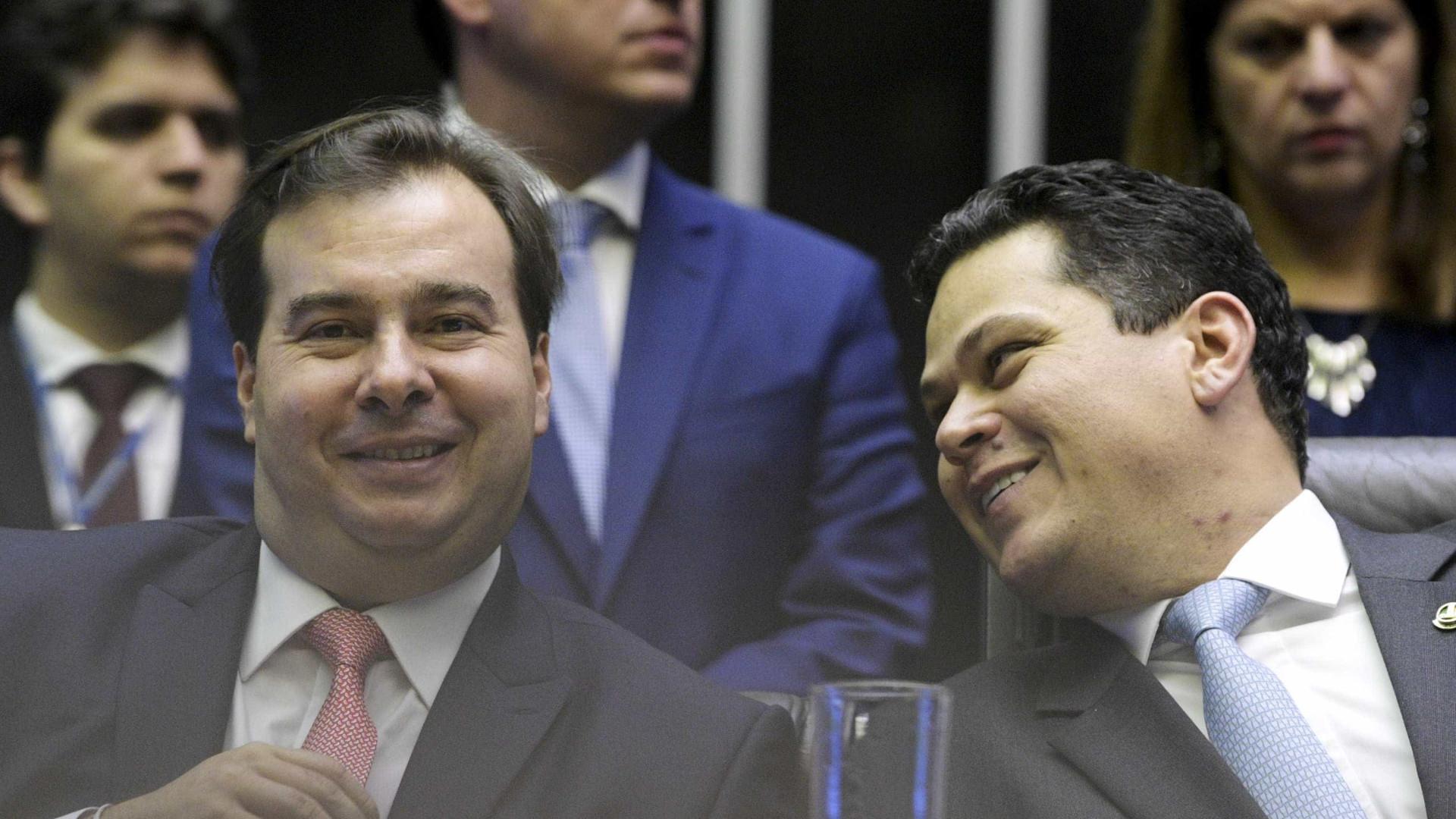 Grupo quer reeleição de Alcolumbre e de Maia