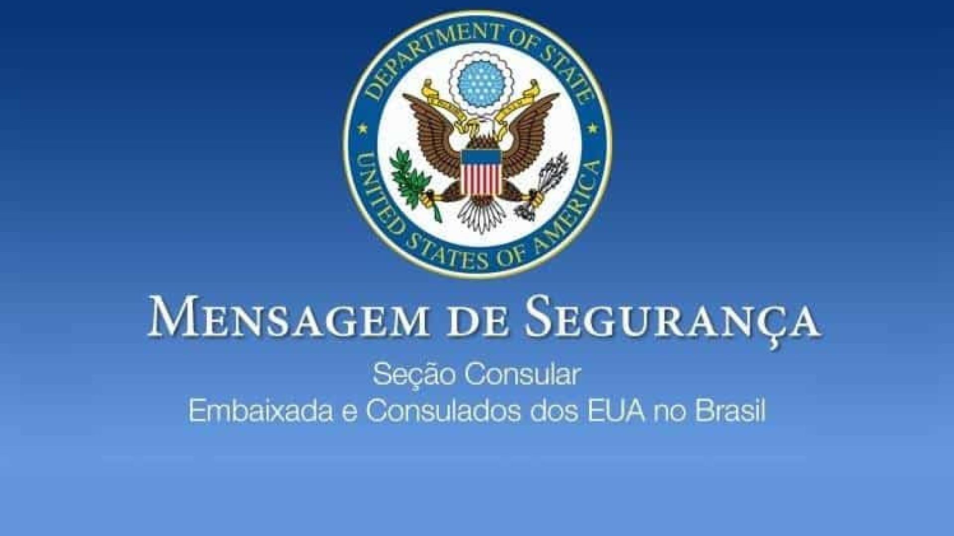 Embaixada dos EUA pede que americanos no Brasil voltem o quanto antes