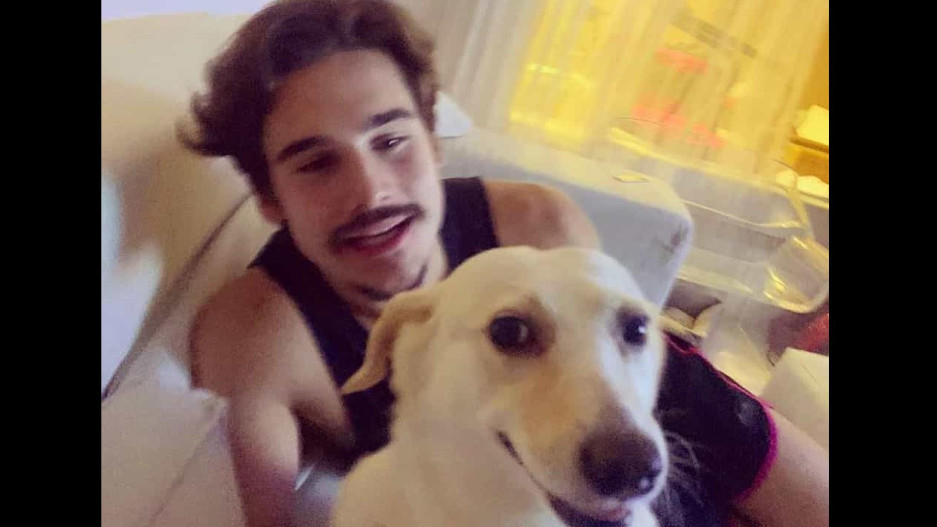 Nicolas Prattes adota cachorra após antiga dona morrer de Covid-19