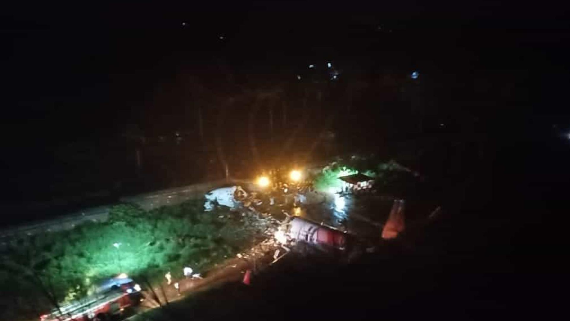Avião da Air India Express com 191 pessoas a bordo sofre acidente grave