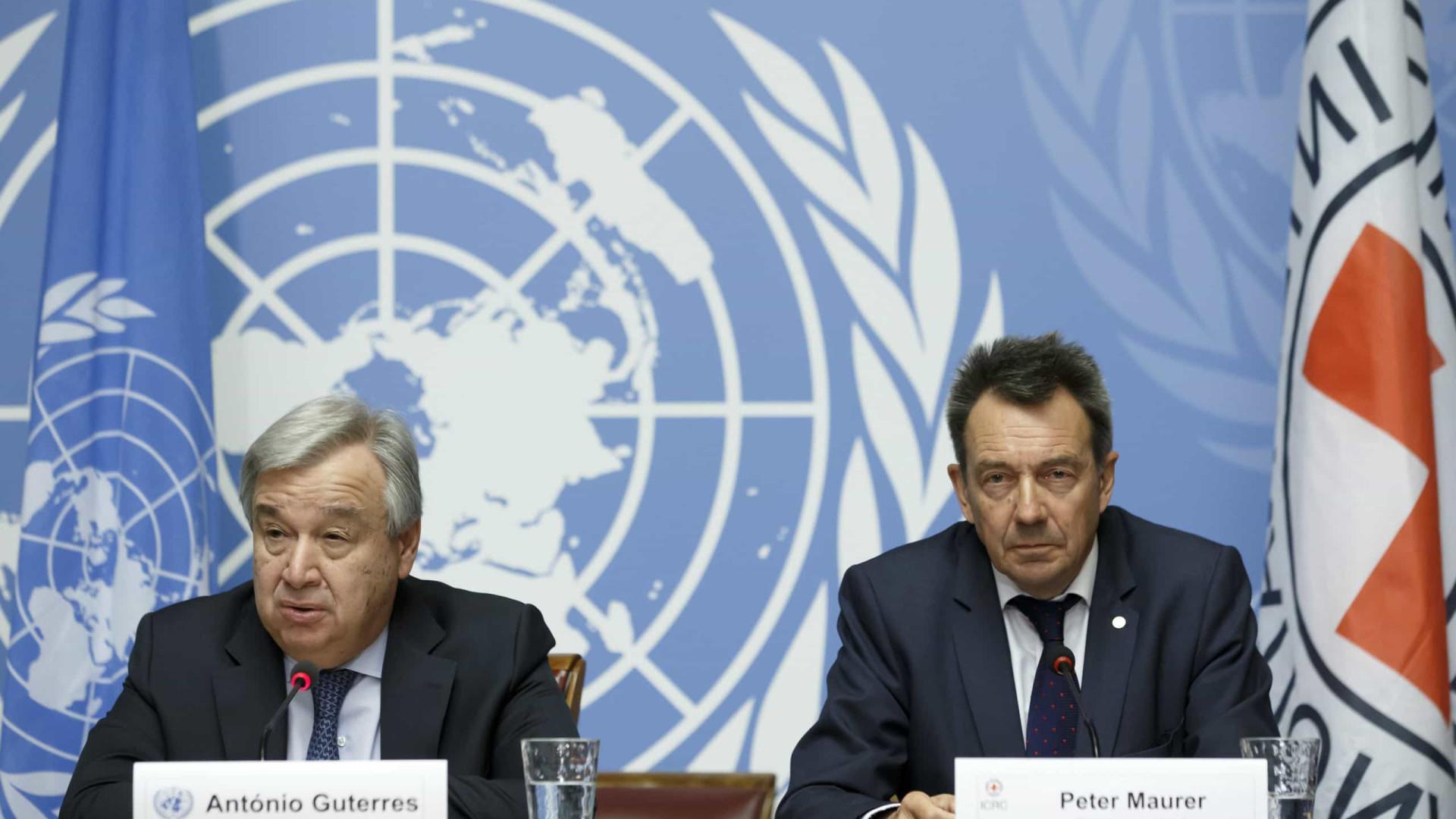 ONU e Cruz Vermelha pedem fim de bombardeamentos na Líbia e Síria
