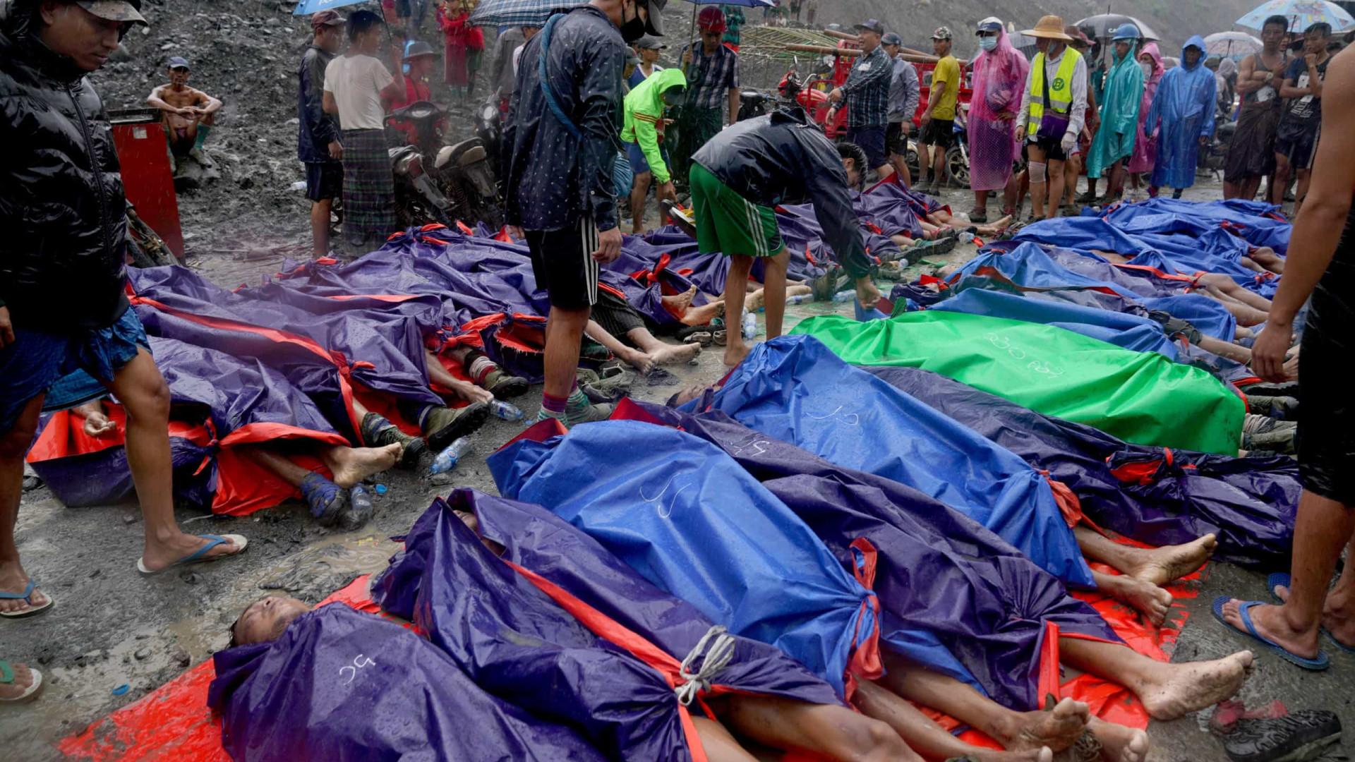 Aumenta para 126 os mortos do acidente em mina em Myanmar