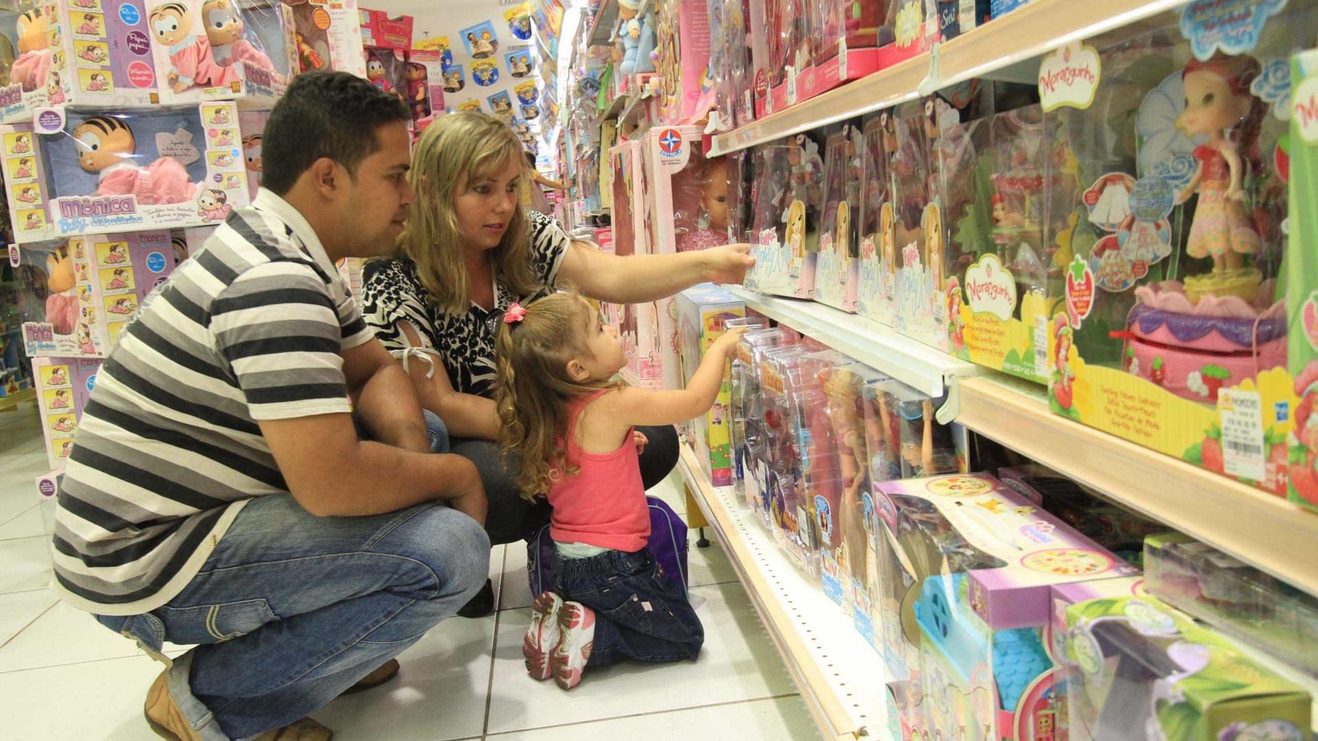 Lojistas preveem crescimento de vendas para o Dia da Criança