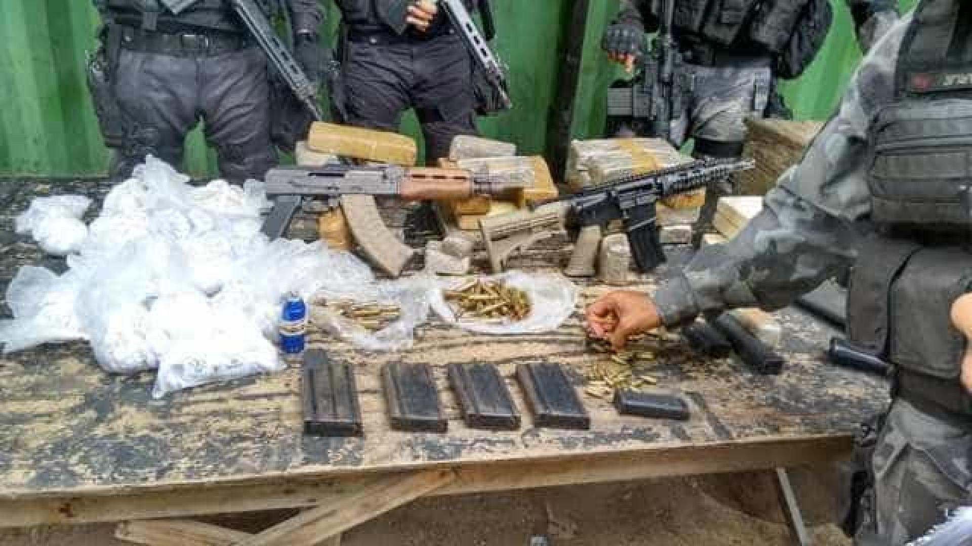 Rio: polícia apreende 8,5 toneladas de drogas e 23 fuzis