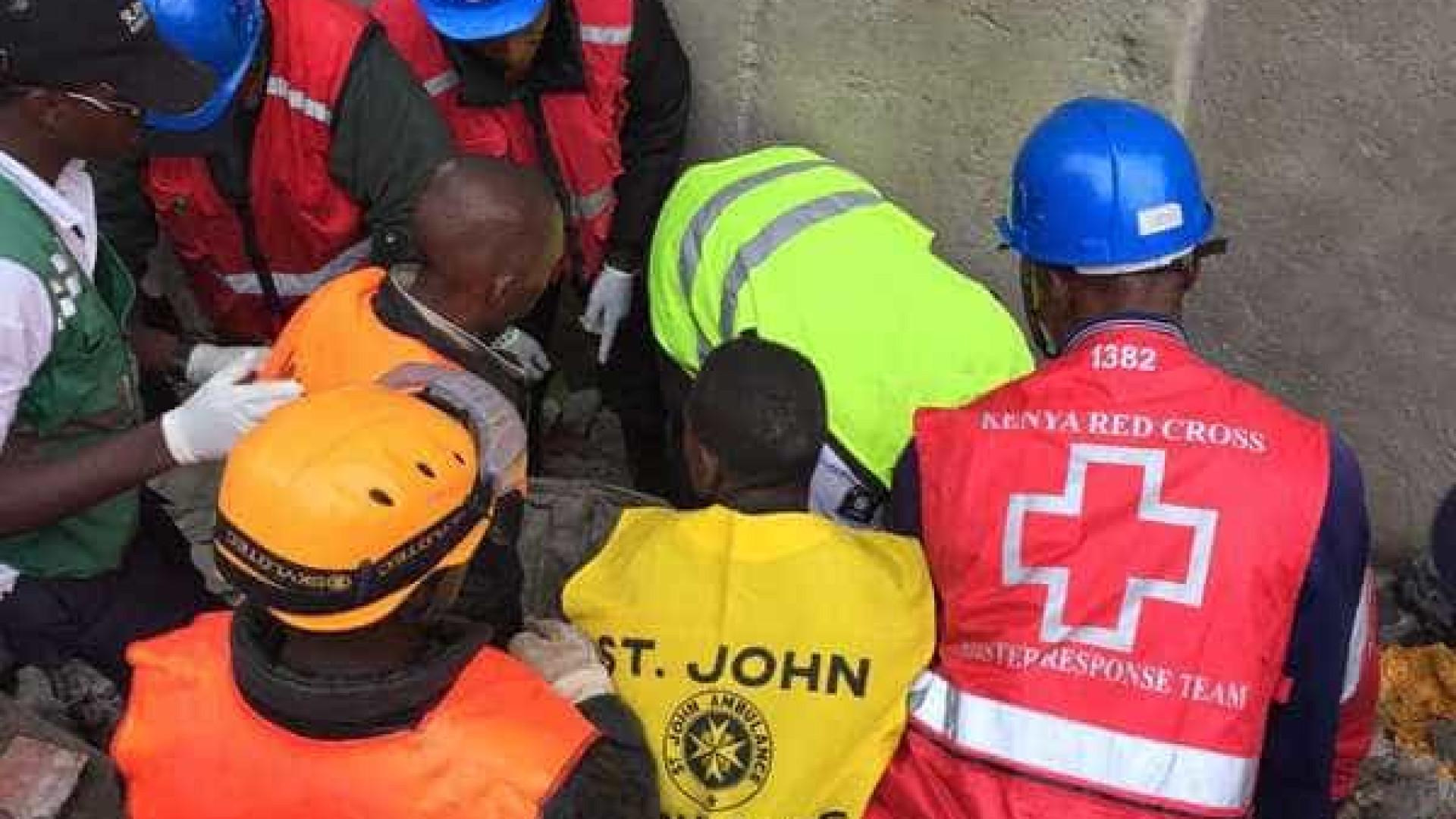 Após queda de prédio, pelo menos sete pessoas morrem no Quênia