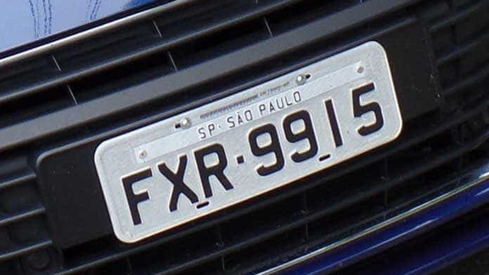 Dono de carro agora pode escolher a placa do veículo em São Paulo