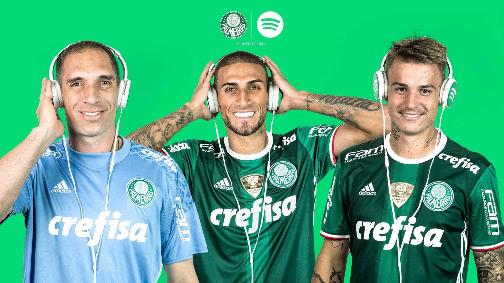 Palmeiras é o primeiro clube brasileiro no Spotify