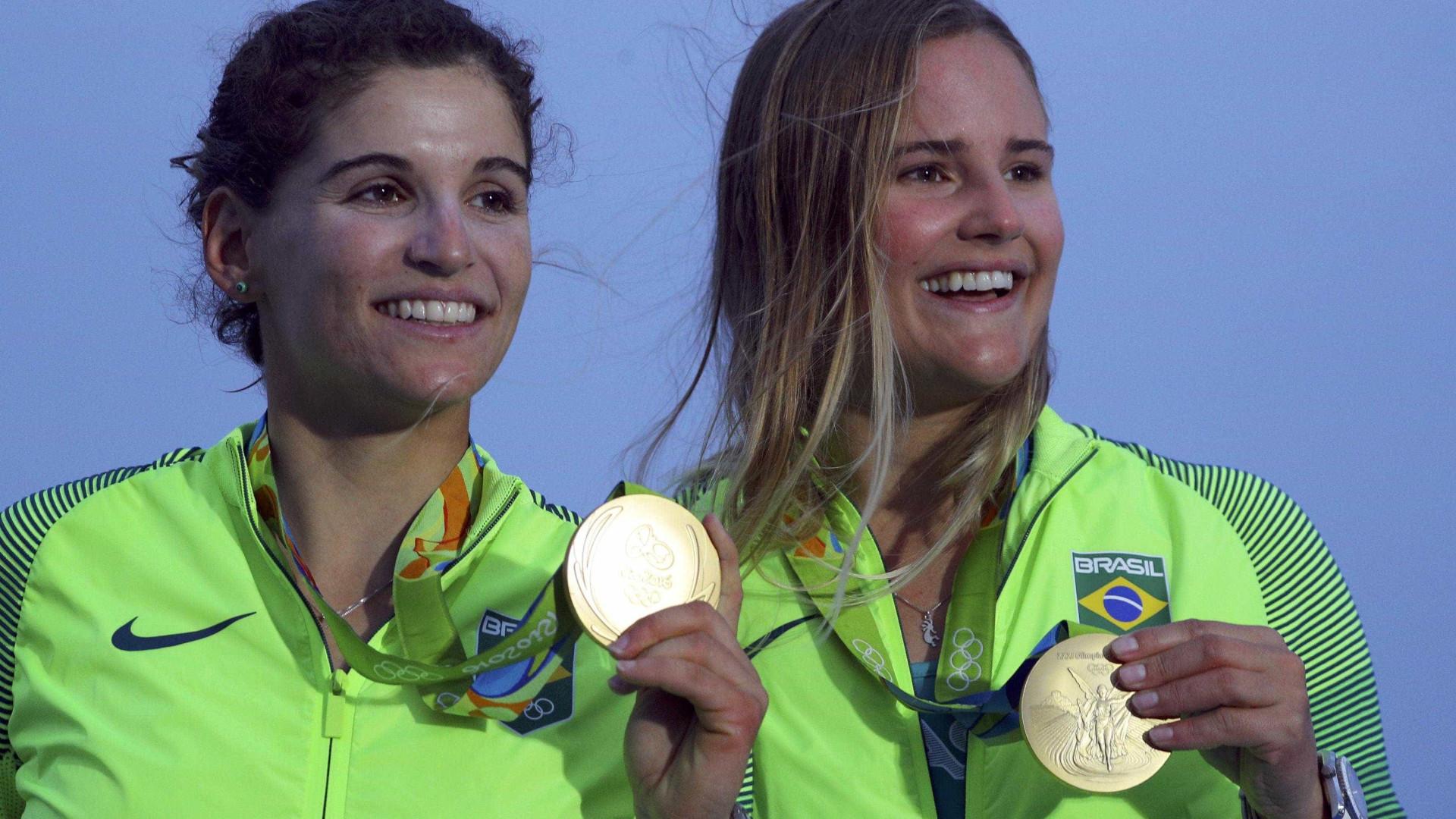 Martine e Kahena assumem segunda posição da classe 49erFX nos Jogos Olímpicos