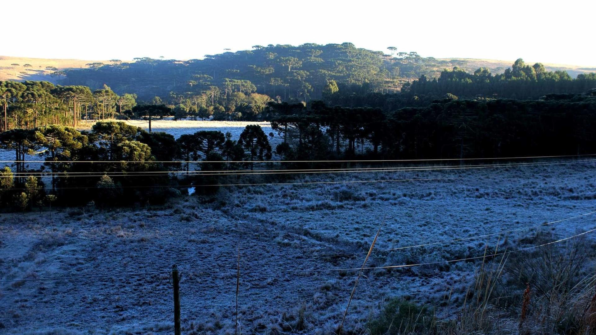 Frente fria faz nevar no RS e em SC