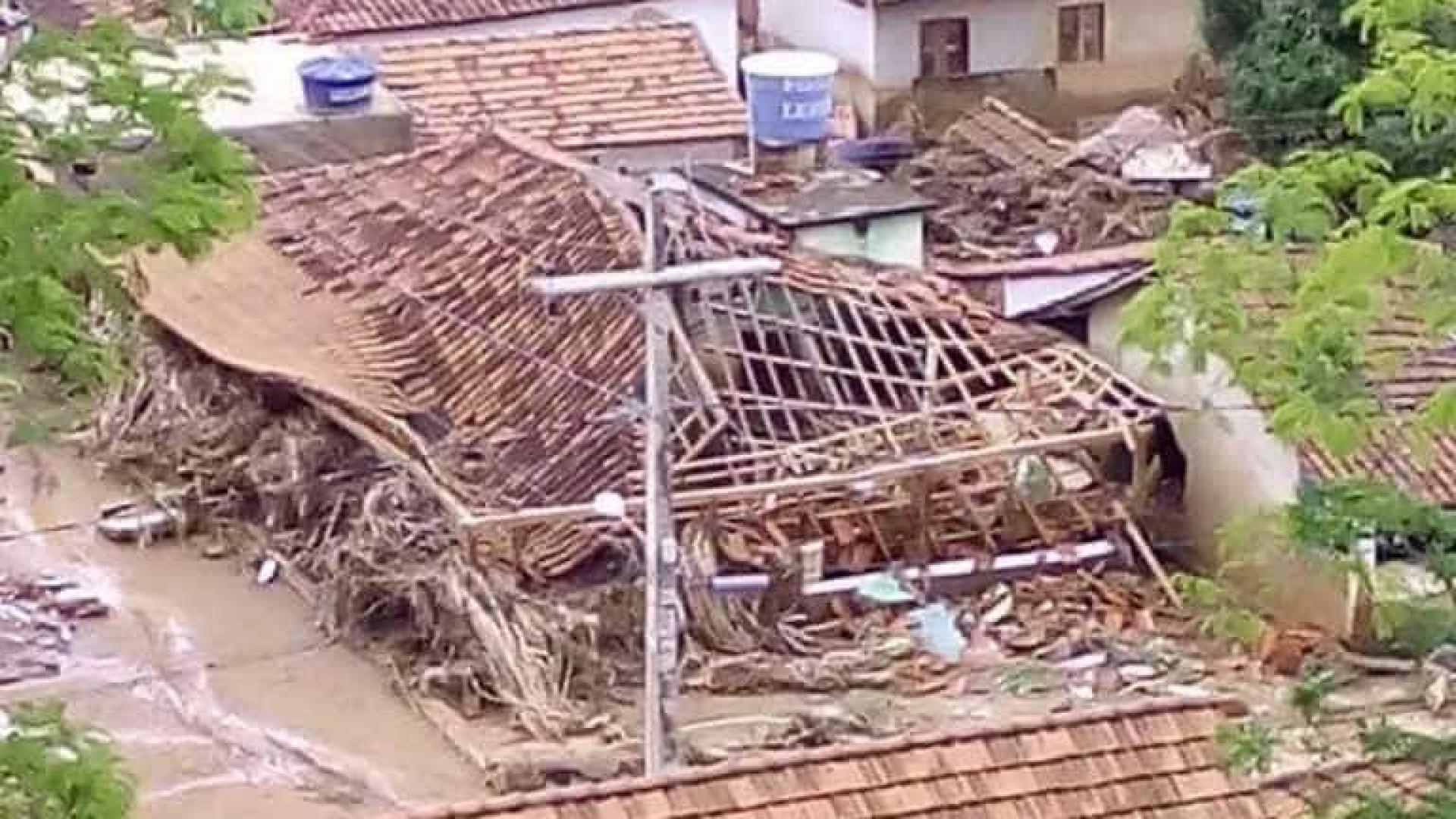 Chuva deixa dois mortos e três  desaparecidos em Minas Gerais