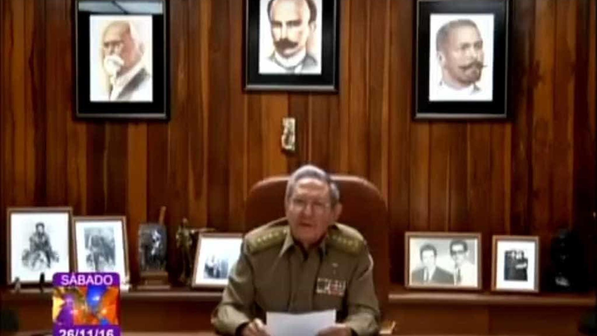 Raúl Castro fez o anúncio da morte de Fidel; Assista!