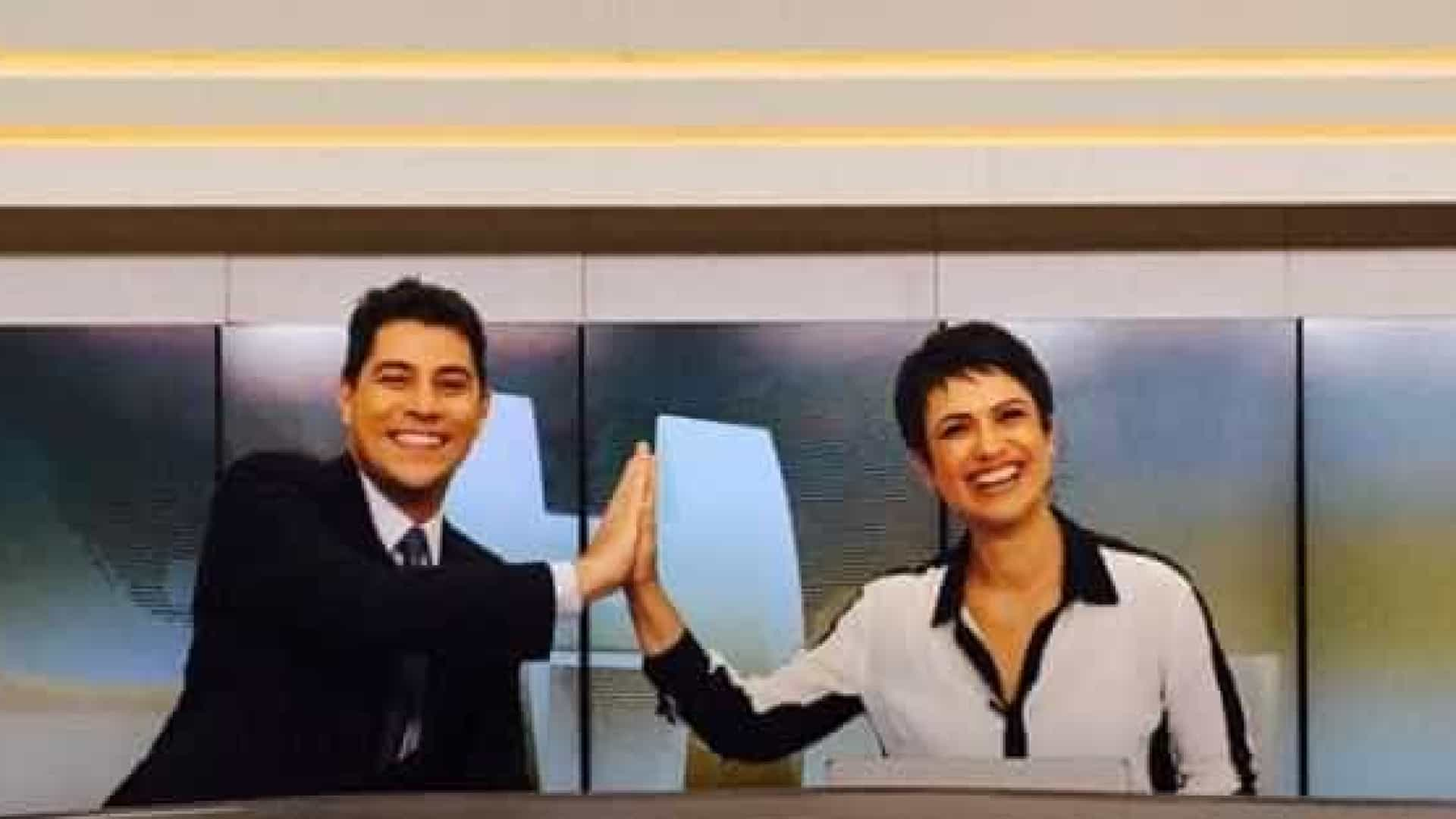 Público comemora reencontro de Sandra  e Evaristo no 'JH'