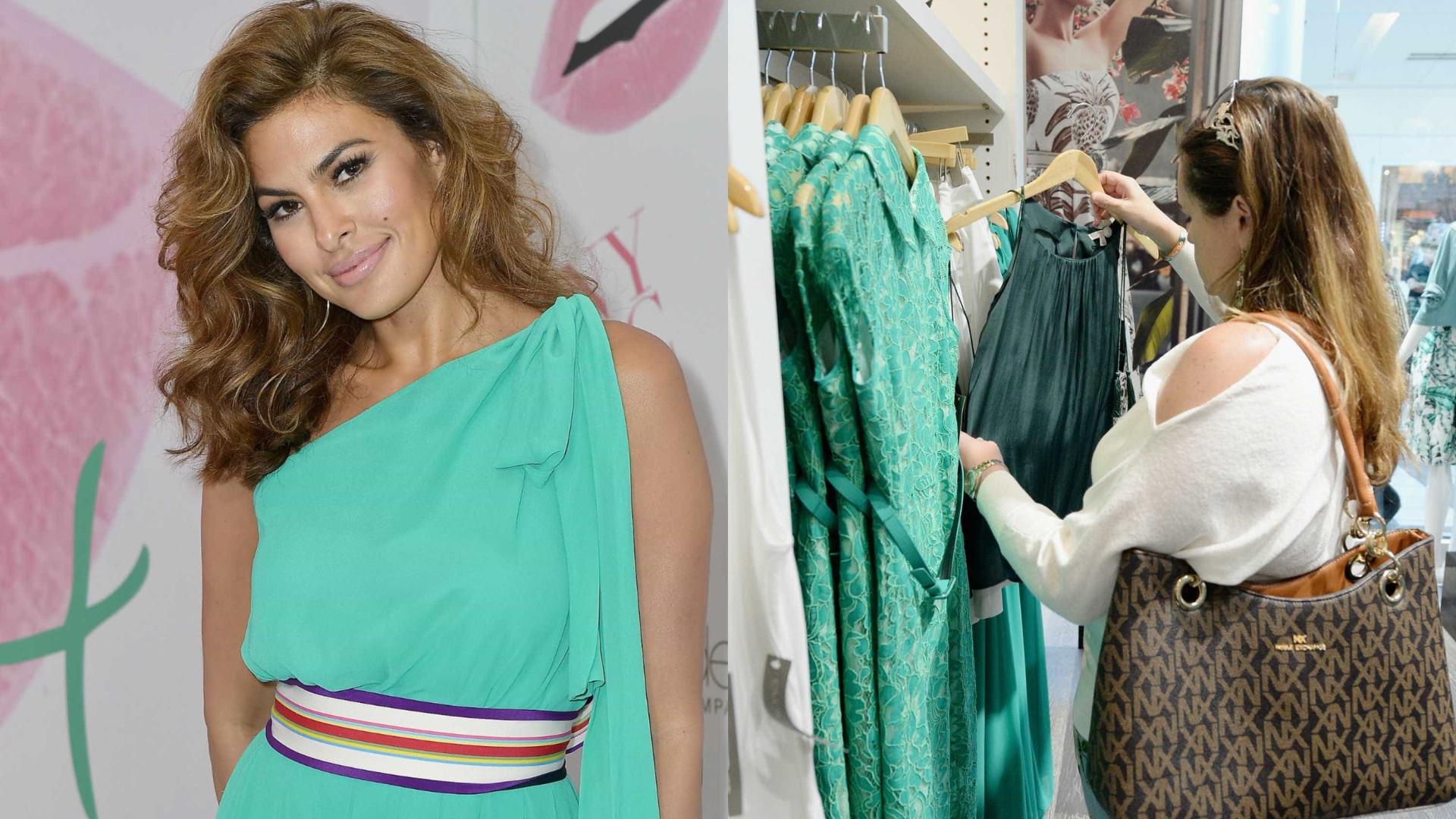 Eva Mendes lança coleção de roupas em Miami; fotos!