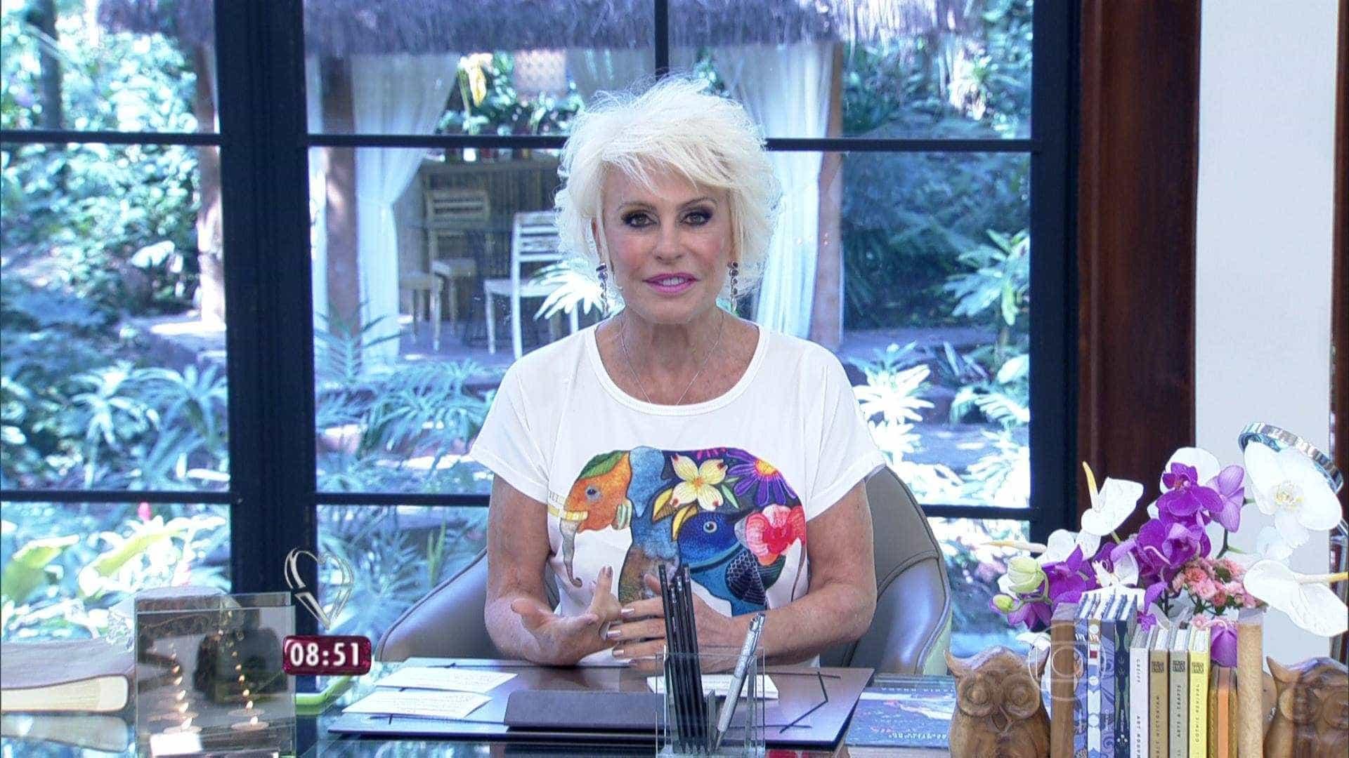Ana Maria Braga diz que já teve conta falsa em app de relacionamento