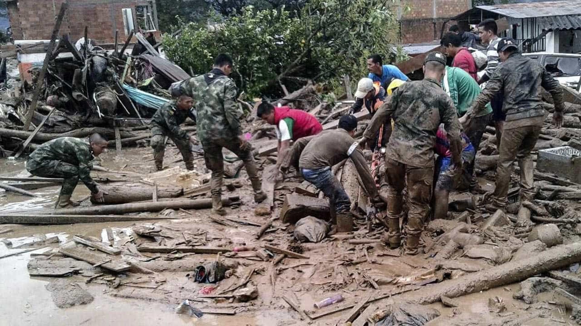 Número de mortos por deslizamentos  na Colômbia sobe para 154