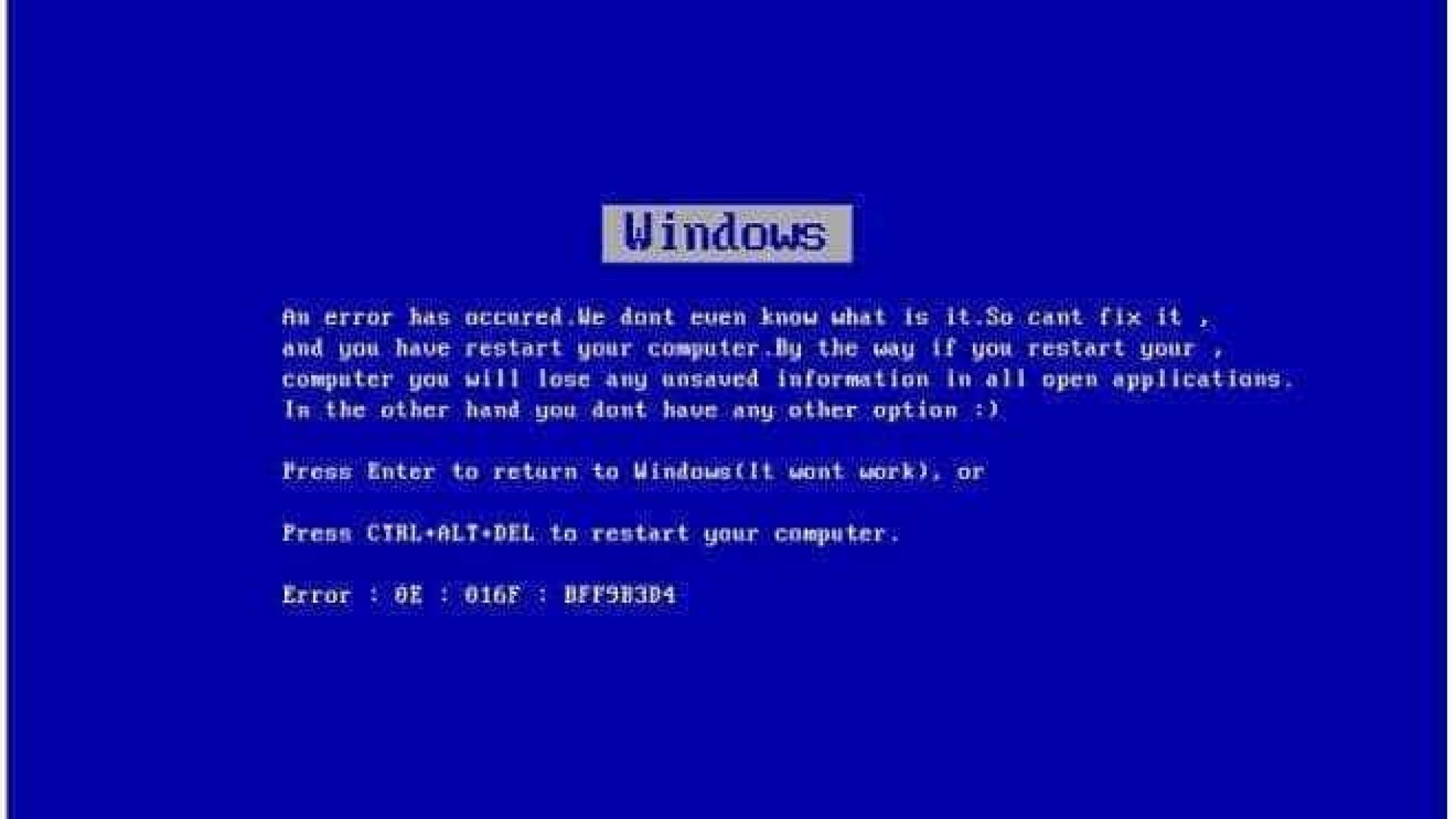 Erro do Windows faz com que sites travem o seu computador