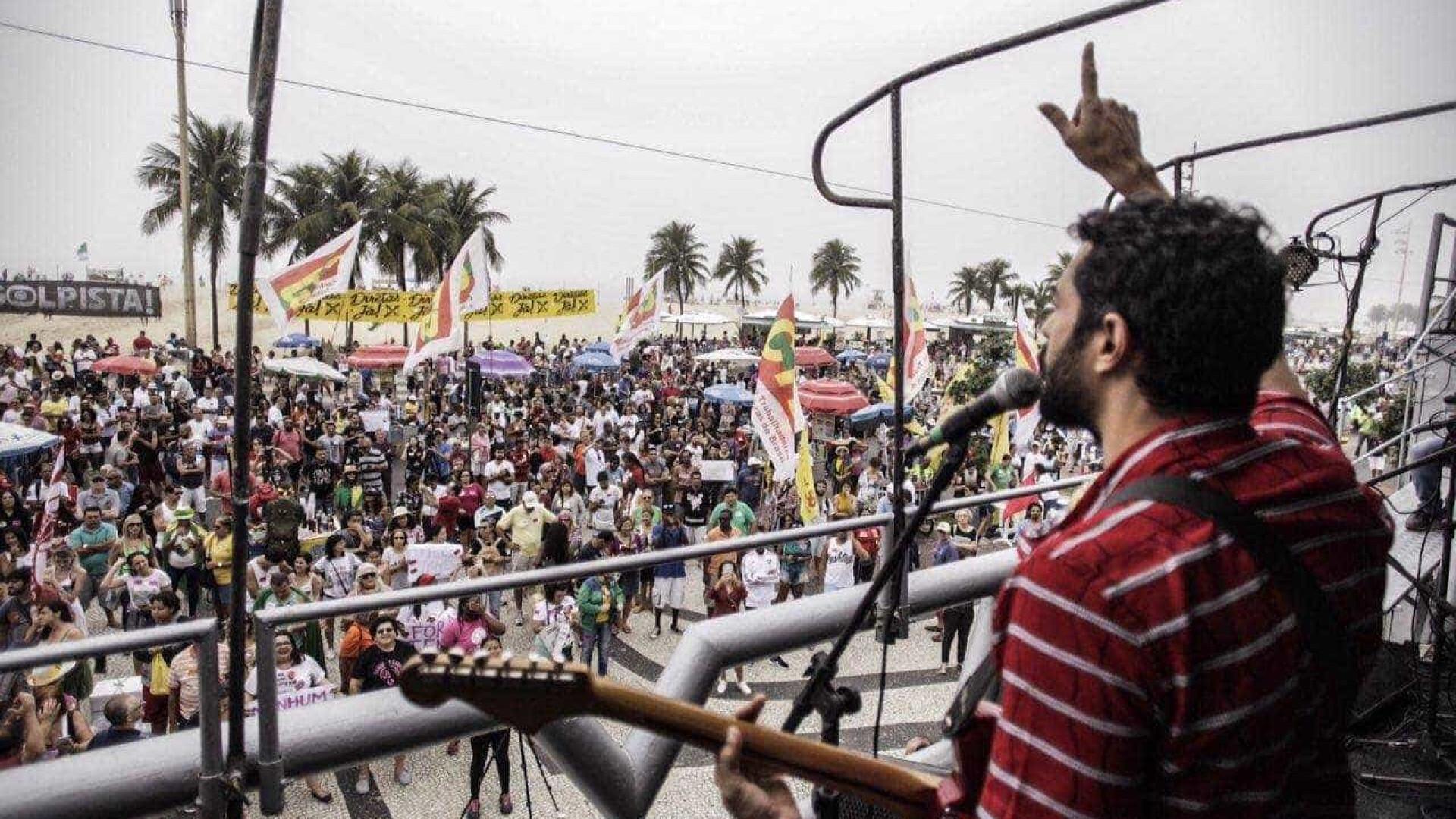 Confira as primeiras imagens de protesto 'Diretas Já' no Rio