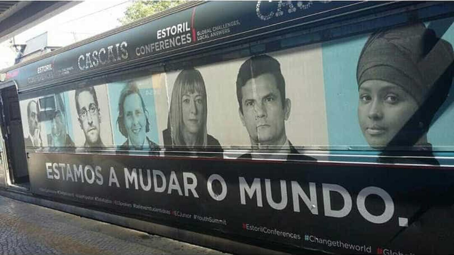Foto de Moro está estampada em trem de Lisboa