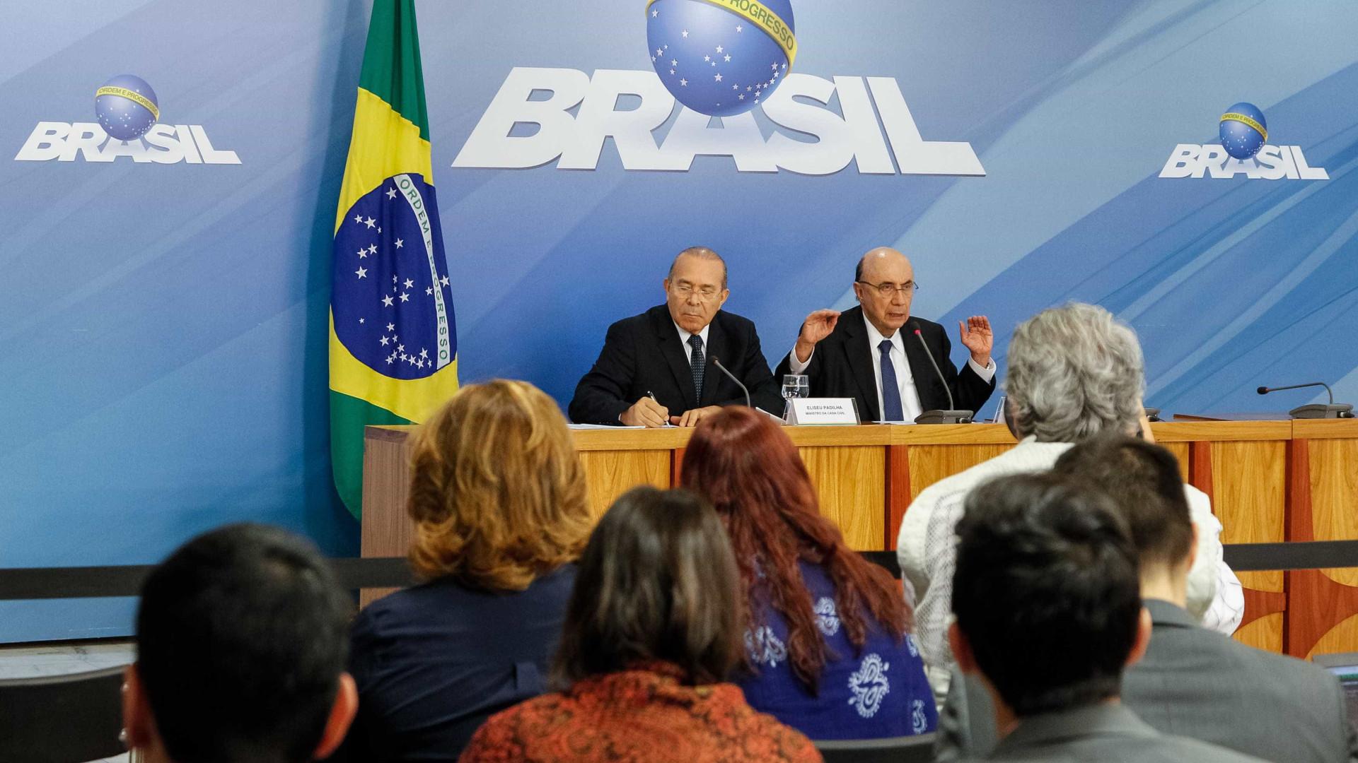 Após reunião com Temer, Meirelles eleva previsão do PIB para 3% em 2018