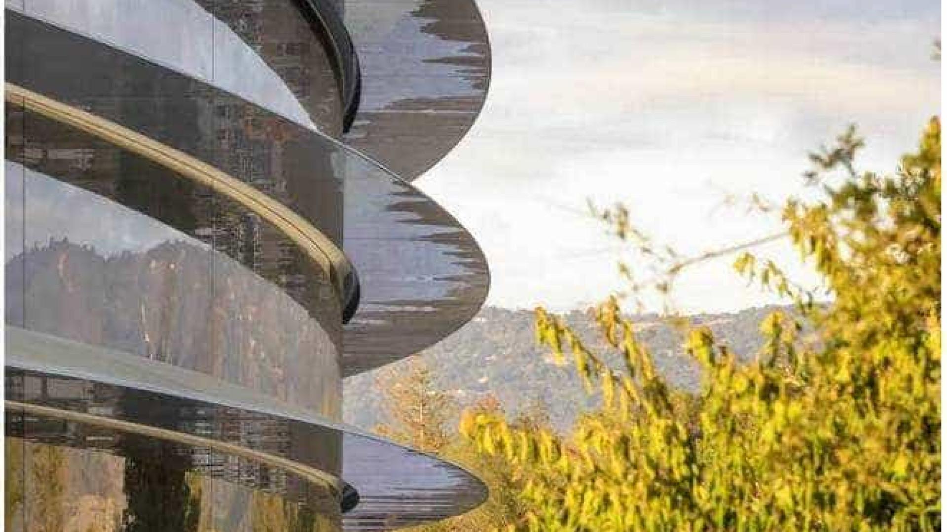 Imagens feitas por drone mostram nova sede da Apple na Califórnia