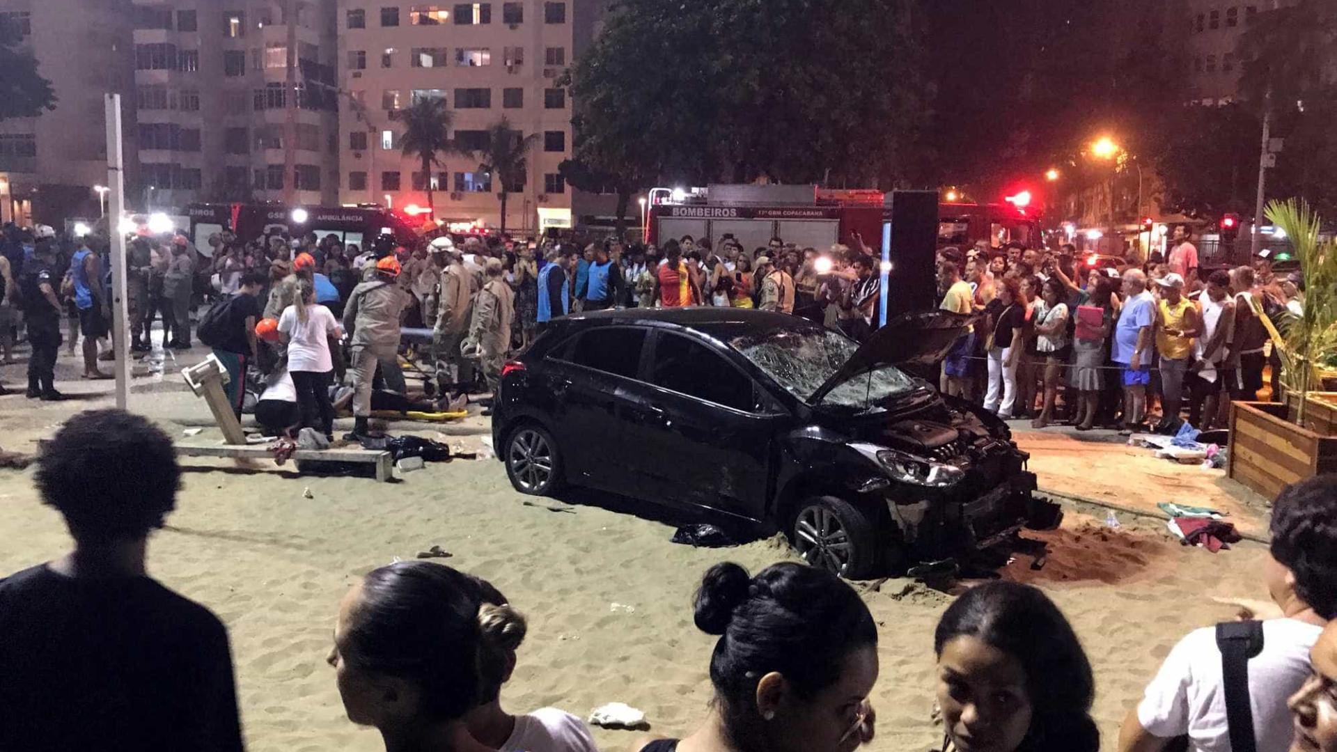 Copacabana: estimativa indica que motorista dirigia em alta velocidade