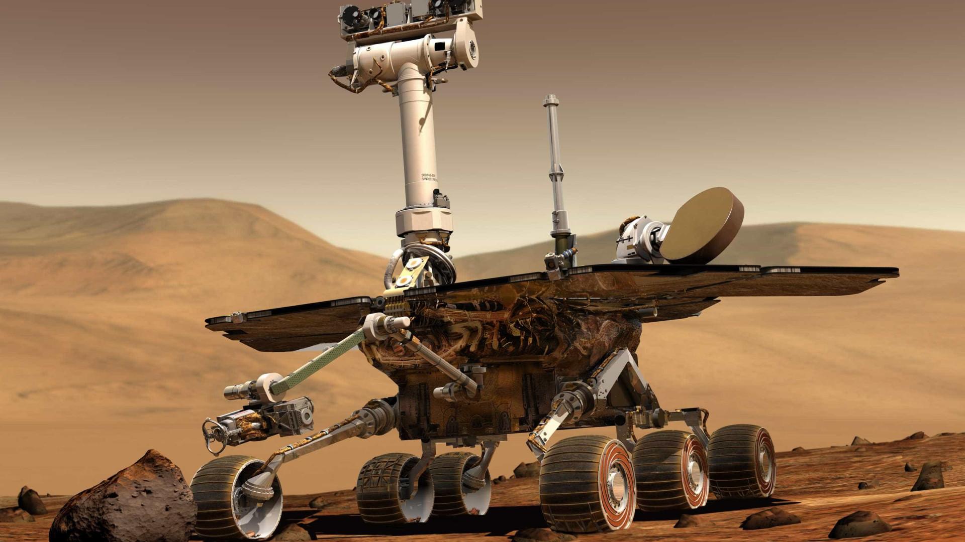 Nasa perde contato com rover durante tempestade de poeira em Marte