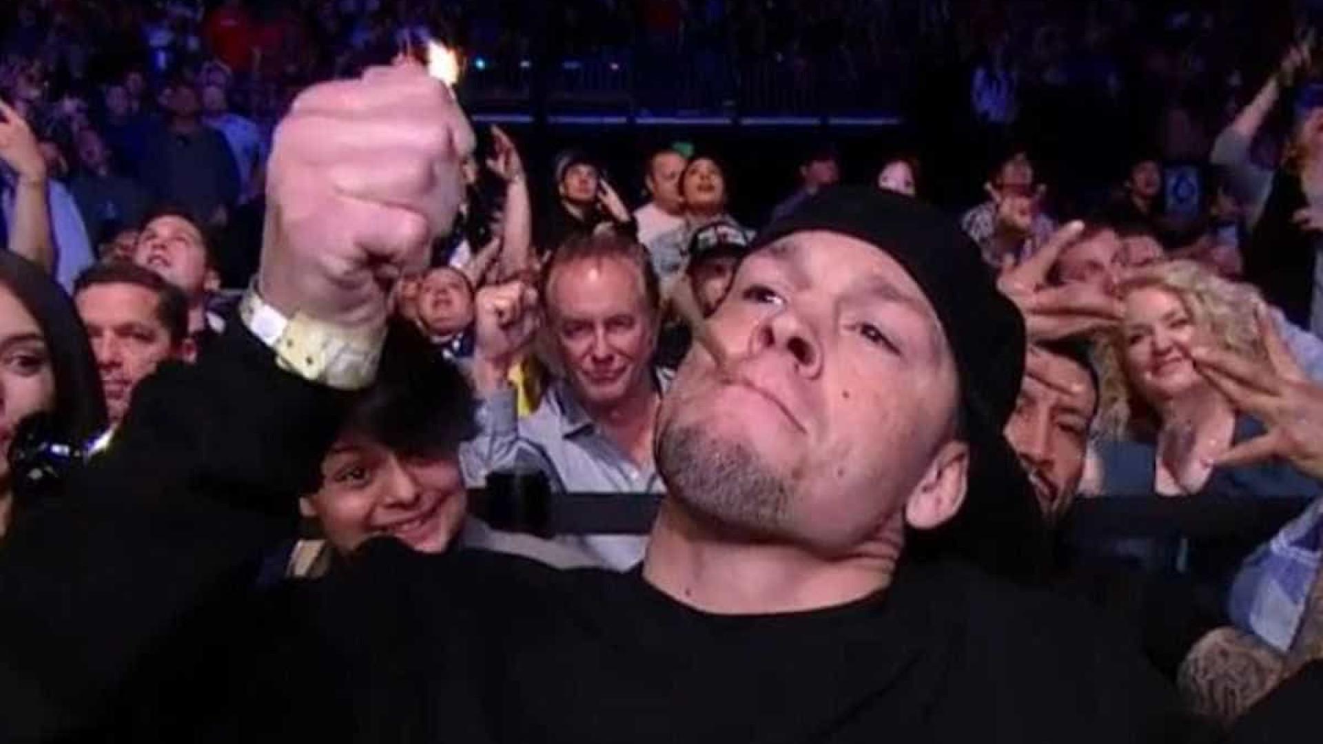 Lutador do UFC é filmado com cigarro de maconha em frente à crianças