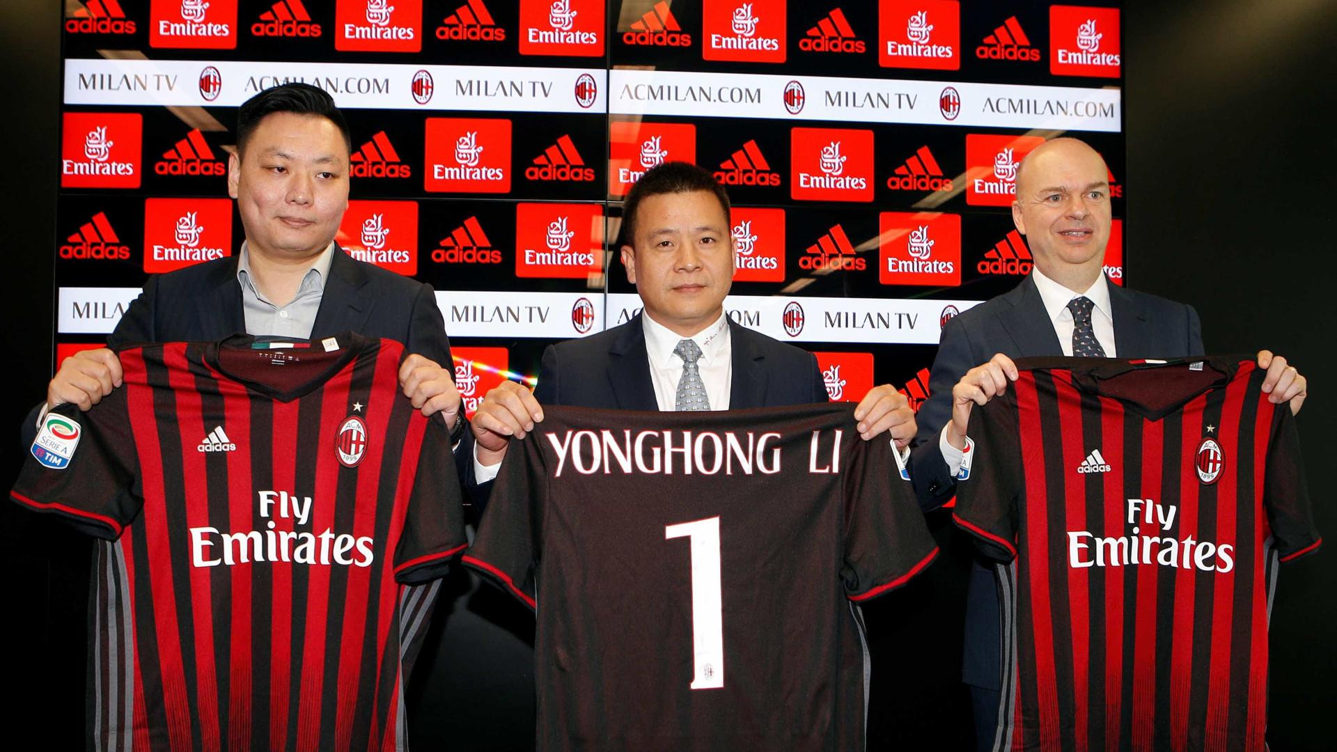 Jornal diz que chinês dono do Milan está falido