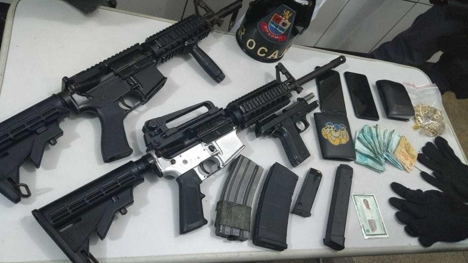 Quadrilha presa com fuzis escoltava chefe de facção em SP