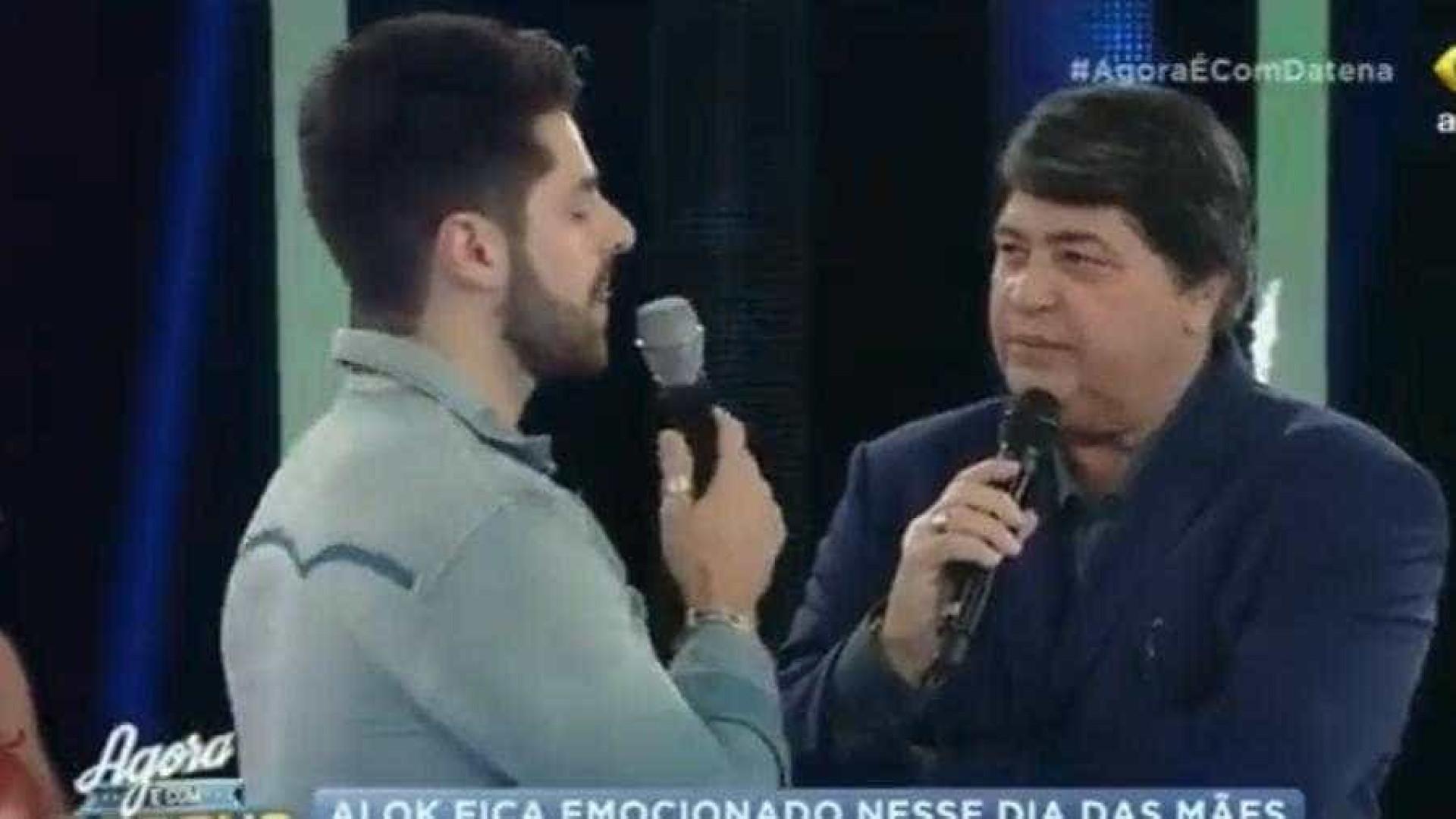 Datena deixa Alok desconcertado durante entrevista em programa