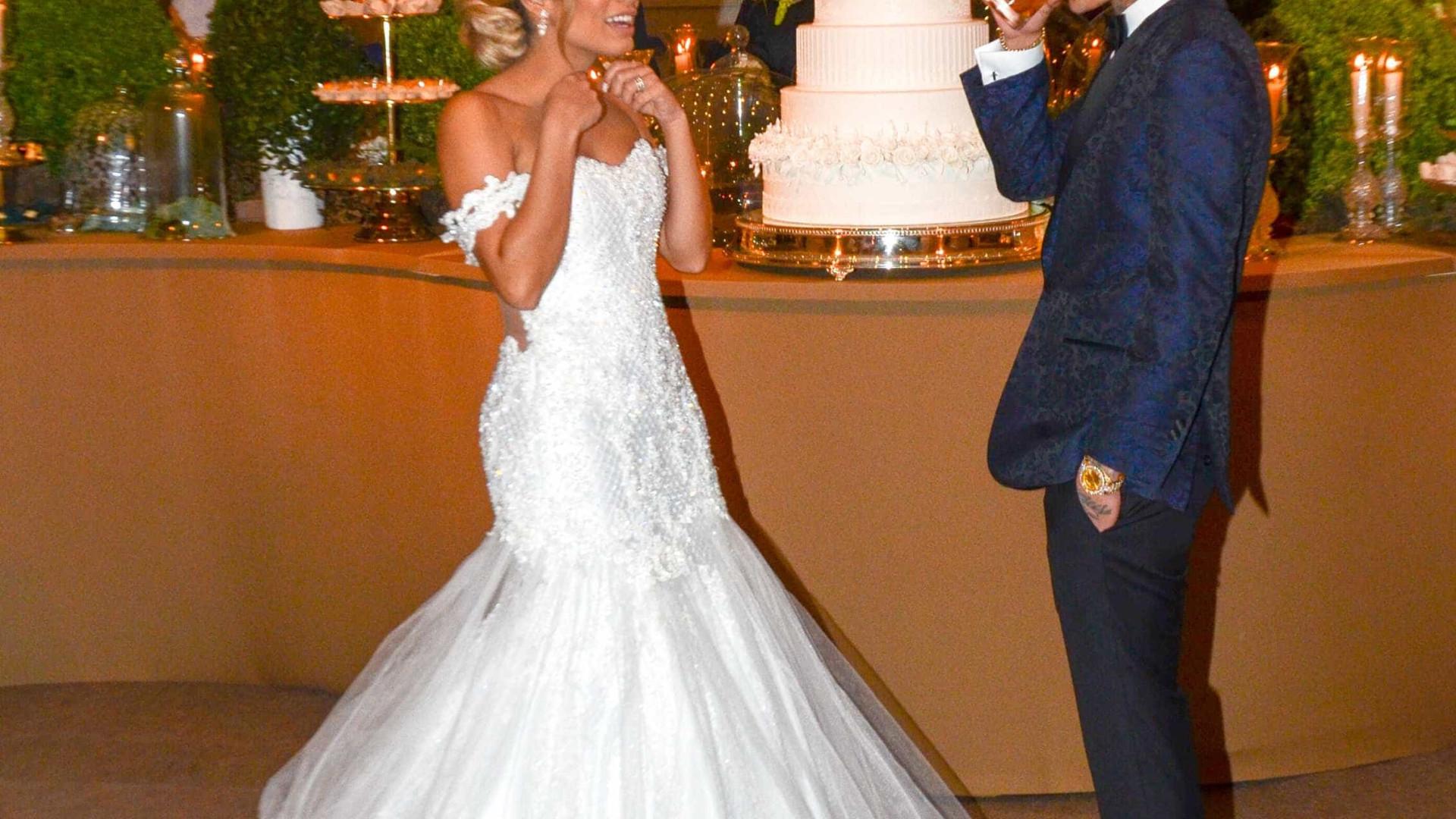 Lexa mostra momentos de surpresa e nervosismo no casamento; veja vídeos