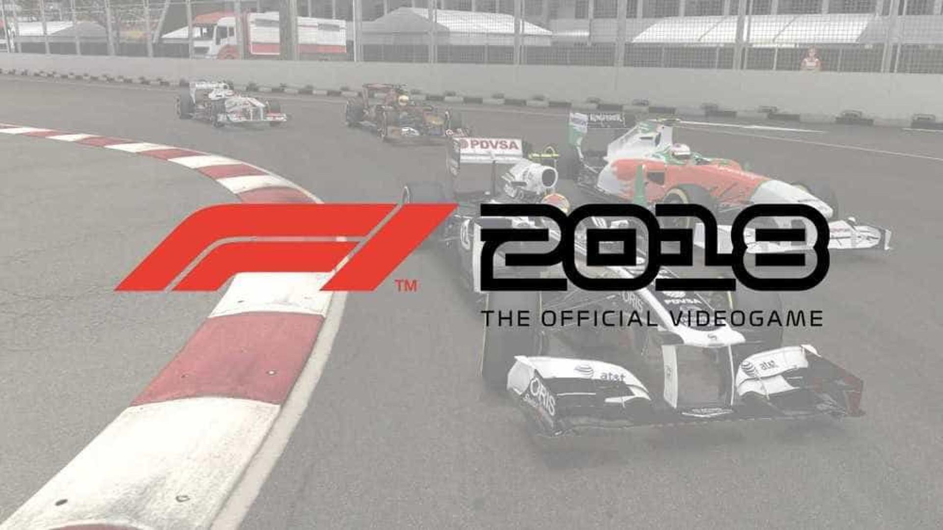 F1 2018 ganhará carros lendários e ficará ainda mais realista