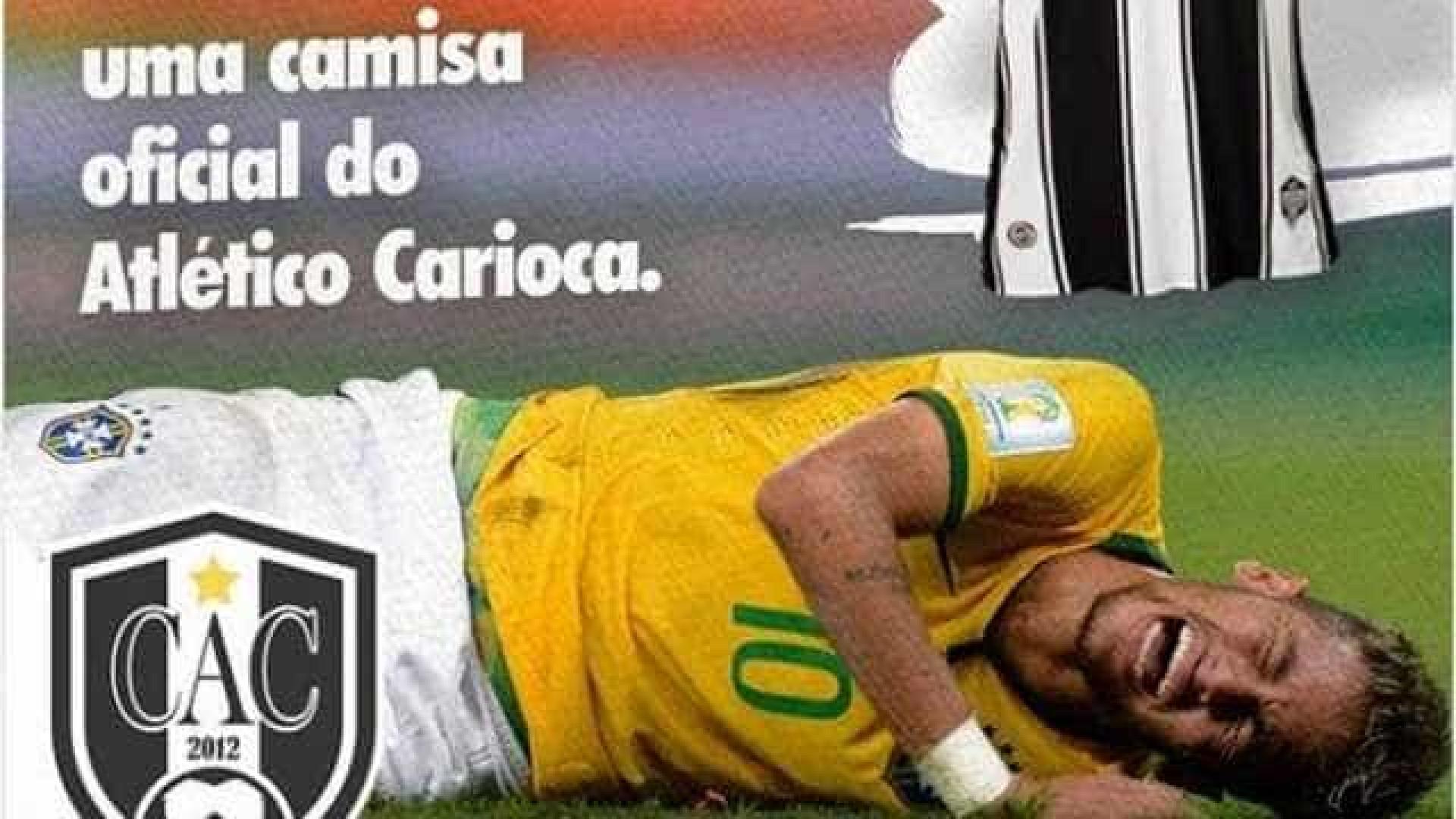 Time de Túlio Maravilha sorteará camisa para cada queda de Neymar