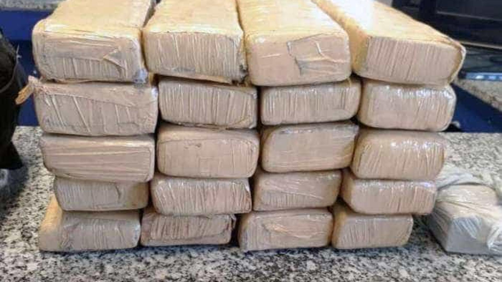 PRF apreende 1,5 tonelada de maconha em caminhão com carga de farinha no Paraná