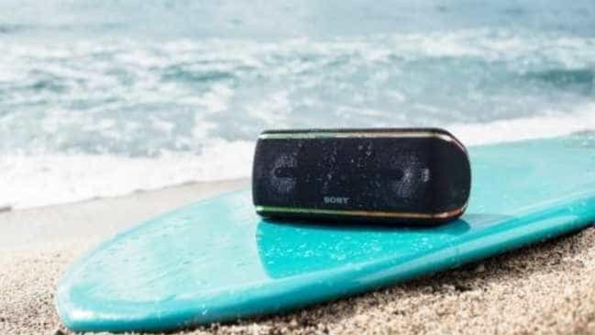 Caixas de som à prova d'água da Sony chegam ao Brasil
