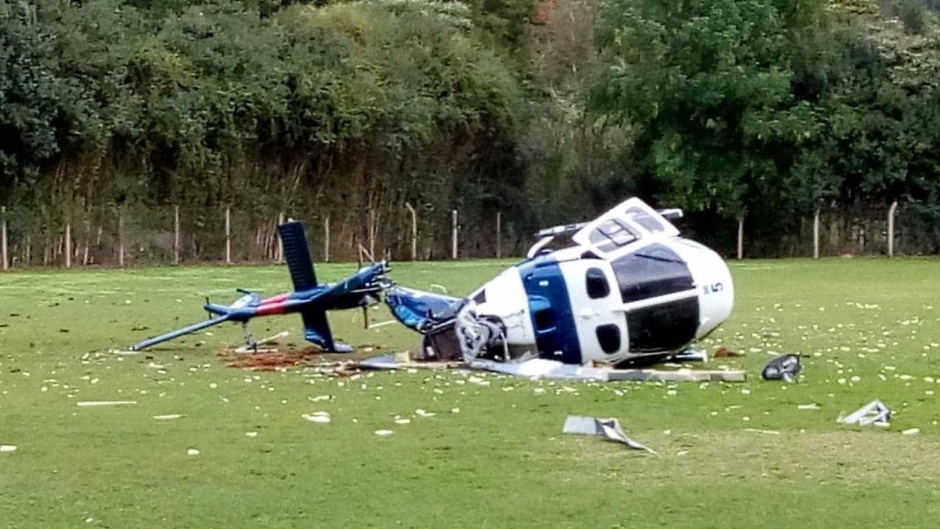 Helicóptero da PM cai com governador do ES a bordo