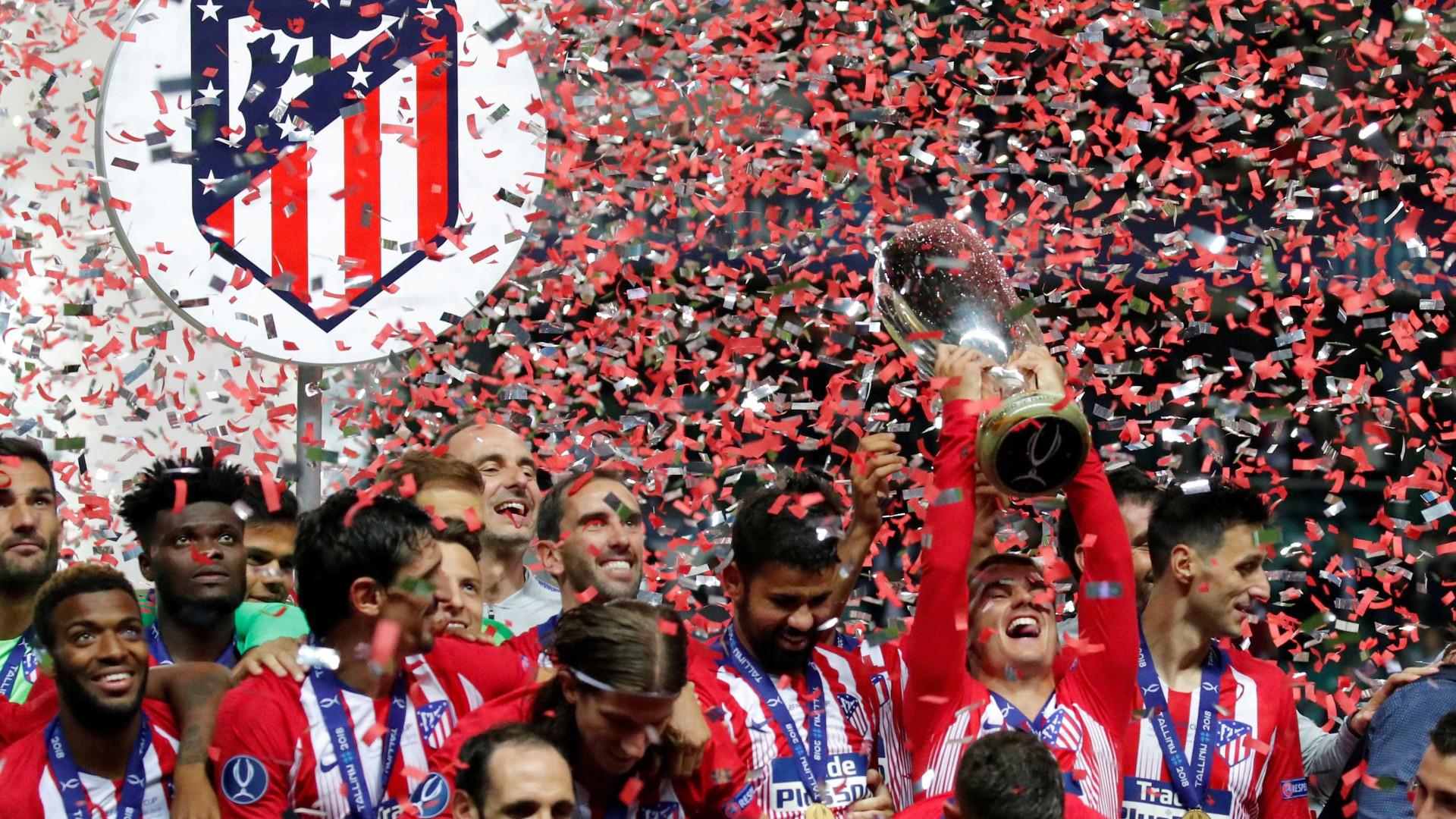 Atlético de Madrid conquista Supercopa contra o Real Madrid