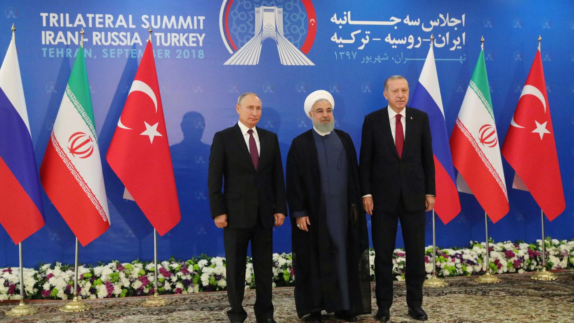 Cúpula entre Rússia, Irã e Turquia termina sem acordo de cessar-fogo