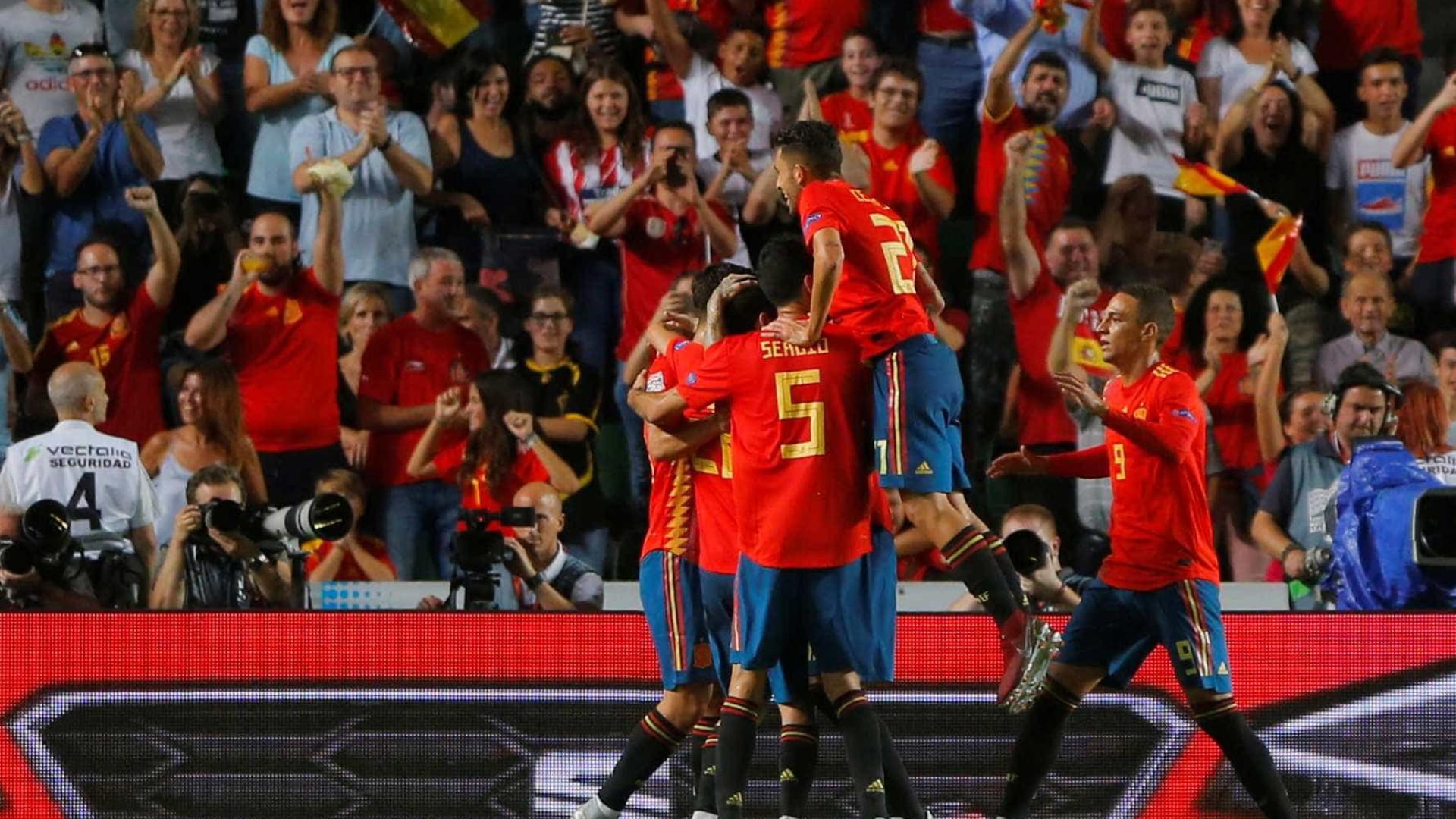 Espanha massacra a Croácia e se destaca no início da Liga das Nações