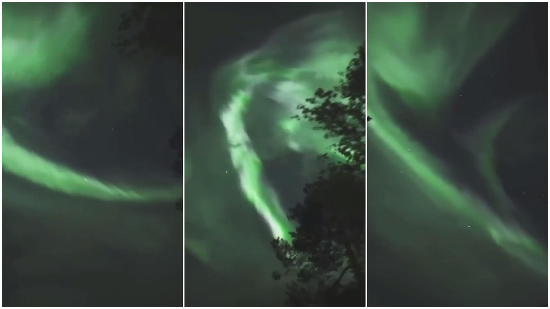 Incrível aurora boreal é captada na Finlândia; assista