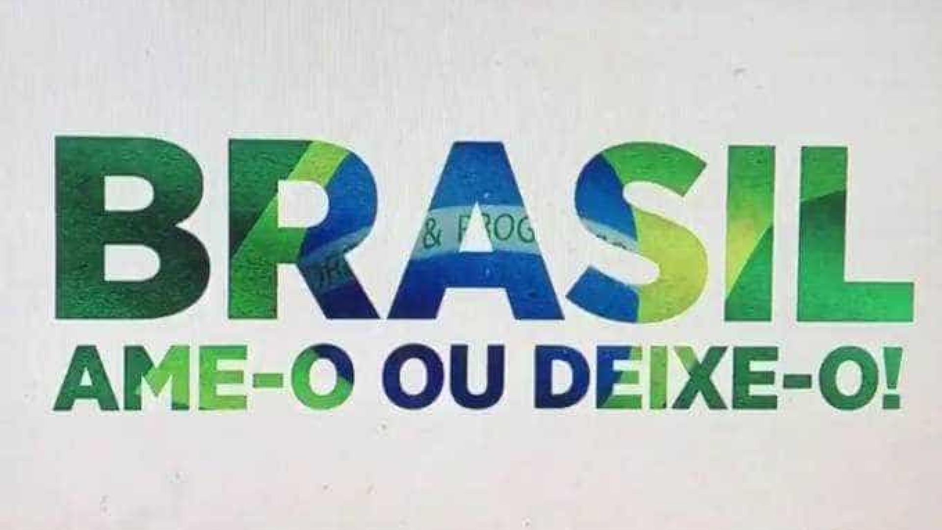 SBT resgata slogan da ditadura em vinheta: 'Brasil: ame-o ou deixe-o'