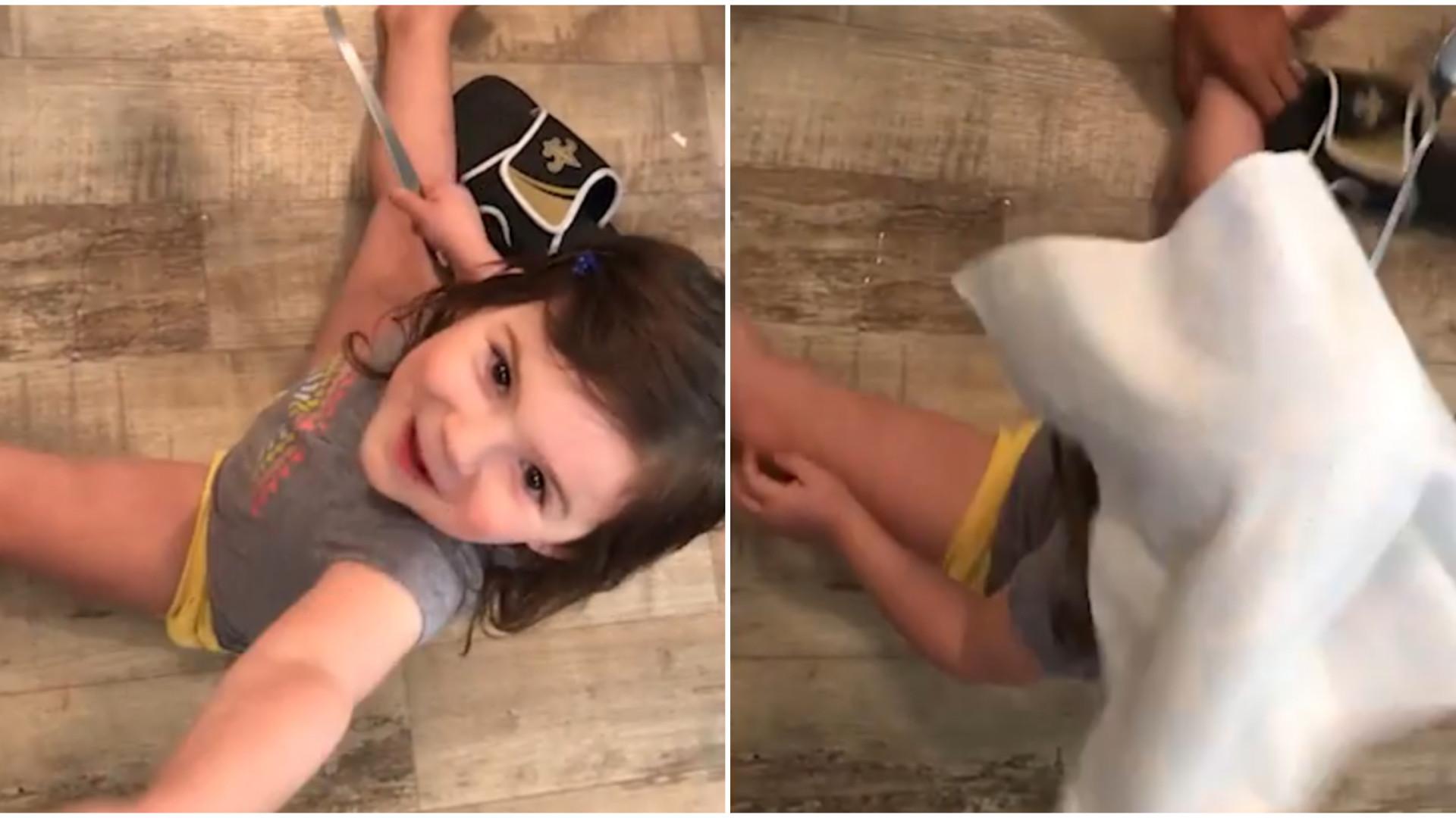 Criança fica muito chateada com pegadinha do pai; assista