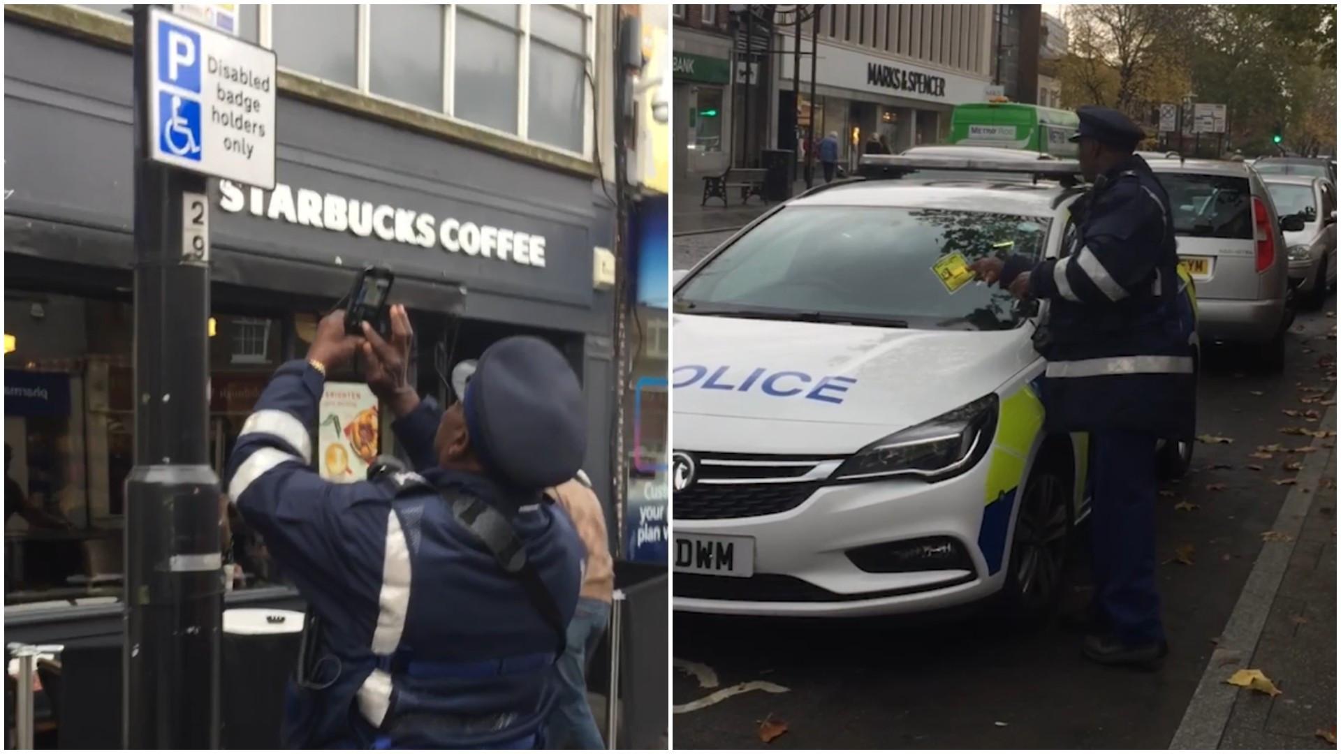 Policial multa carro da própria polícia na Inglaterra