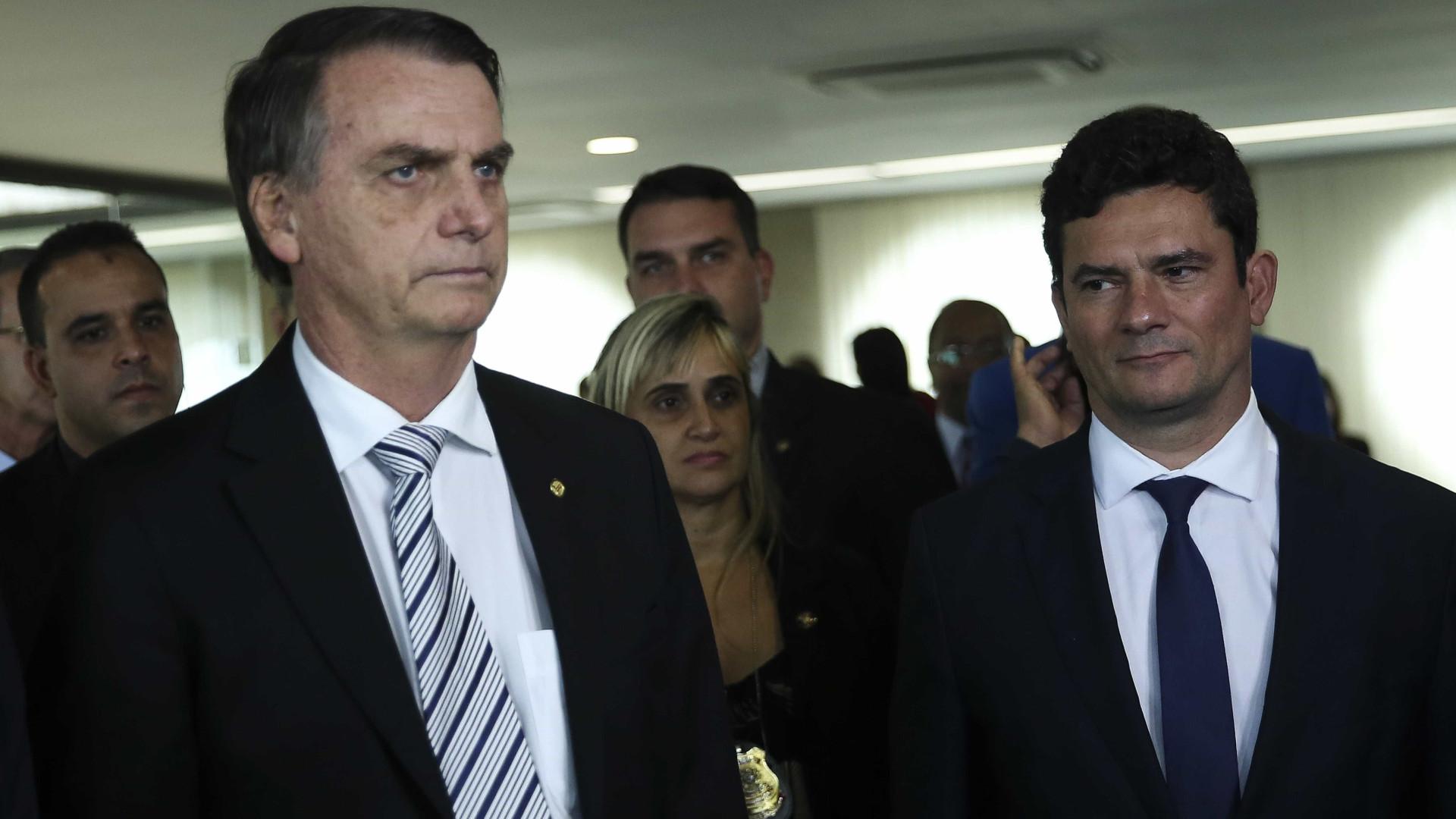Bolsonaro: Parte do que acontece na política devemos a Sérgio Moro
