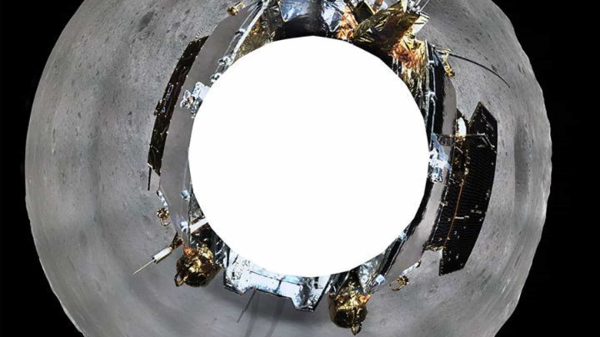 Sonda chinesa mostra fotografia de 360 graus do lado oculto da Lua