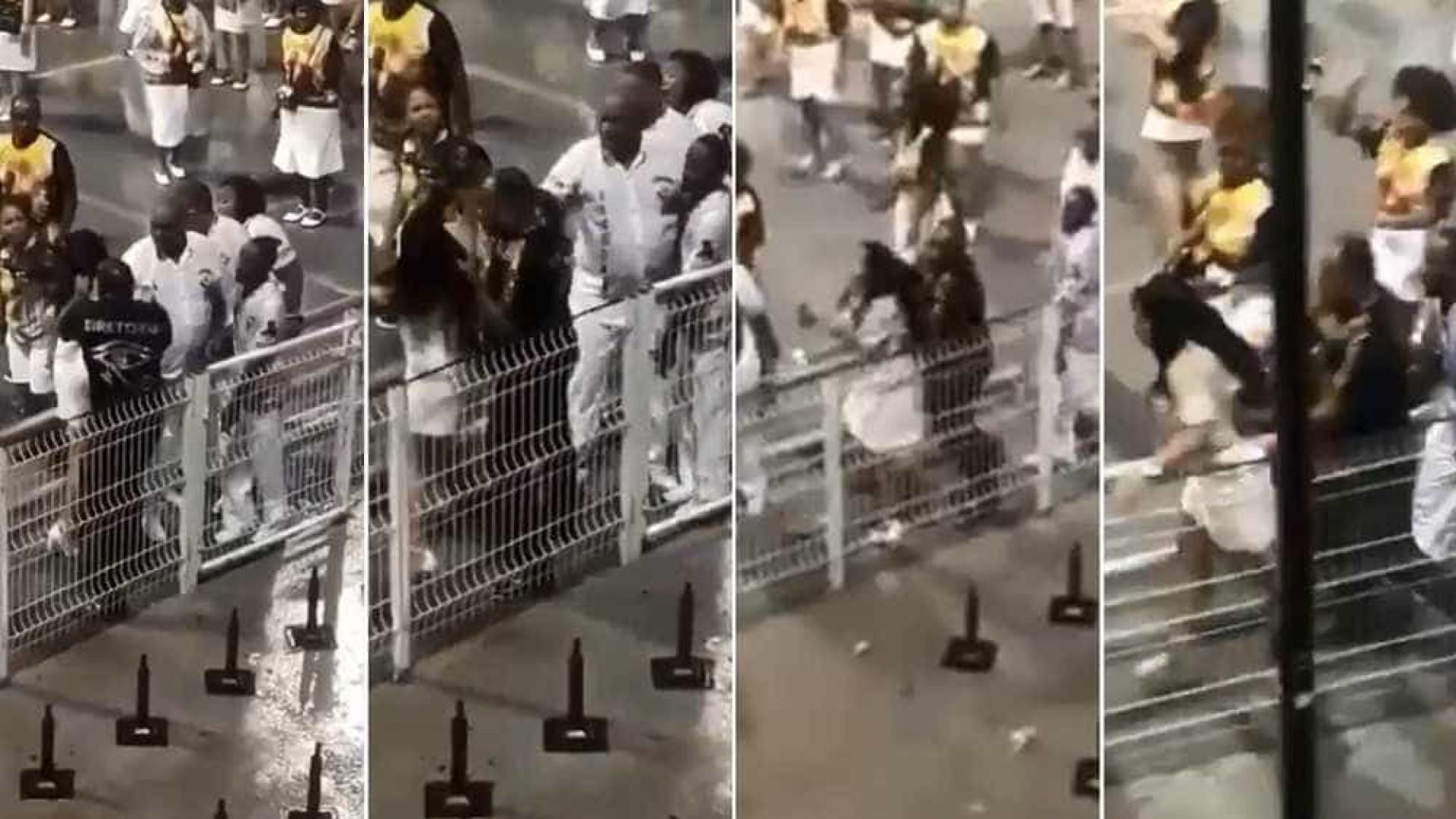 Integrante da Vai-Vai agride mulher durante ensaio no Anhembi; vídeo
