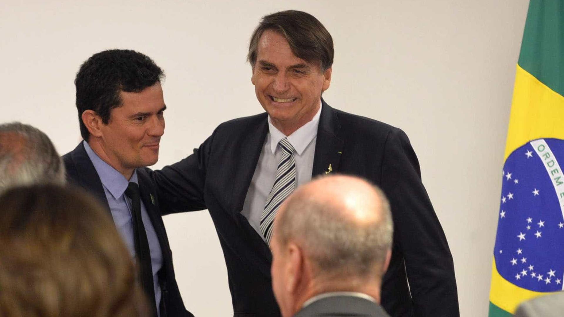 'Na 1ª vaga que tiver', Bolsonaro espera poder indicar Moro ao STF