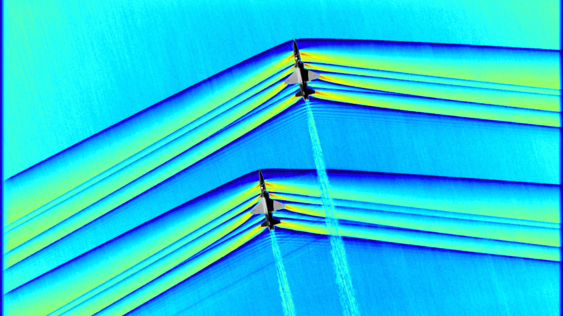 Nasa capta ondas de choque de voo supersónico pela primeira vez